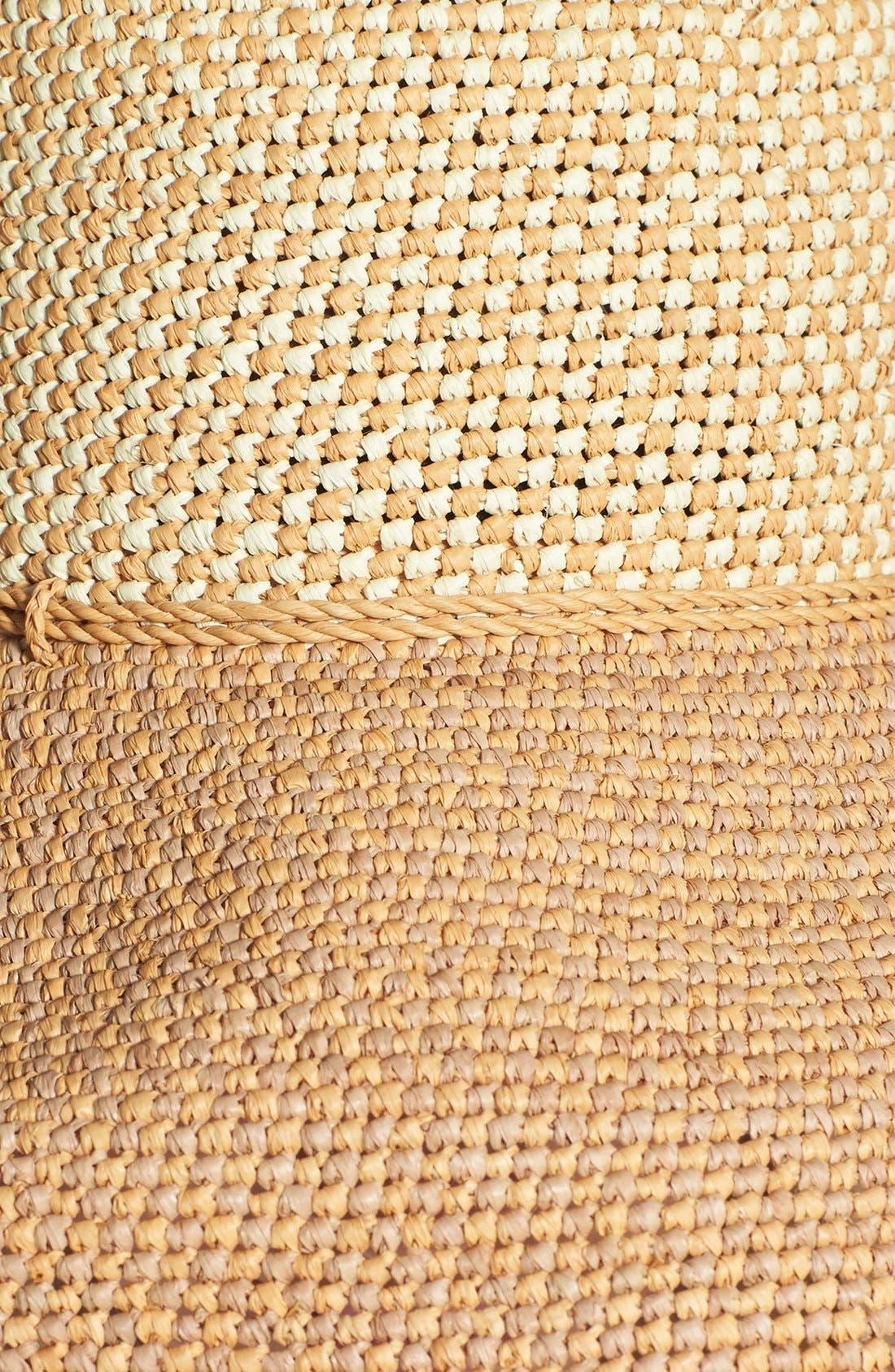 'Provence 12' Packable Raffia Hat,                             Alternate thumbnail 22, color,
