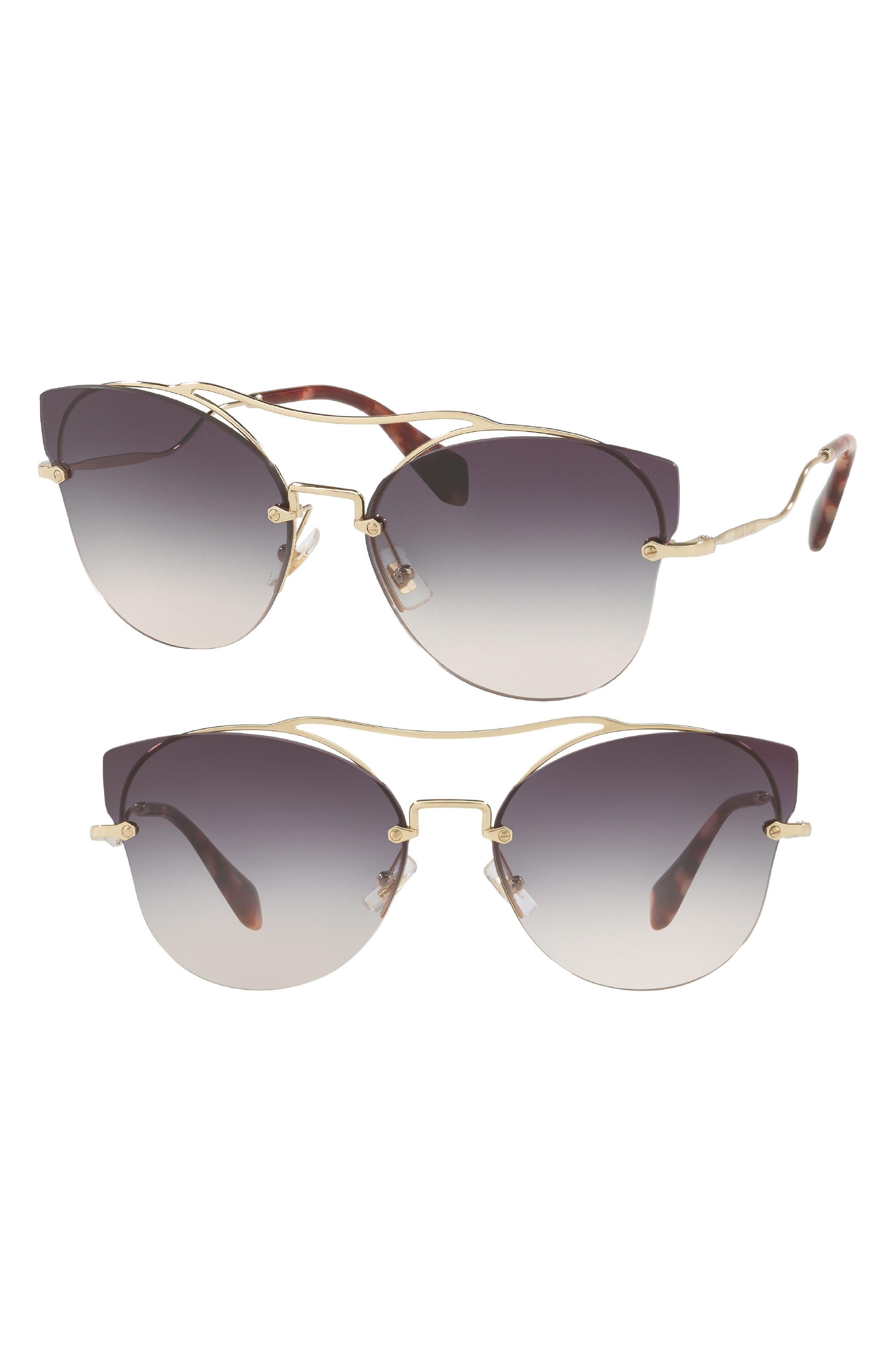 62mm Aviator Sunglasses,                             Main thumbnail 1, color,                             BLUE
