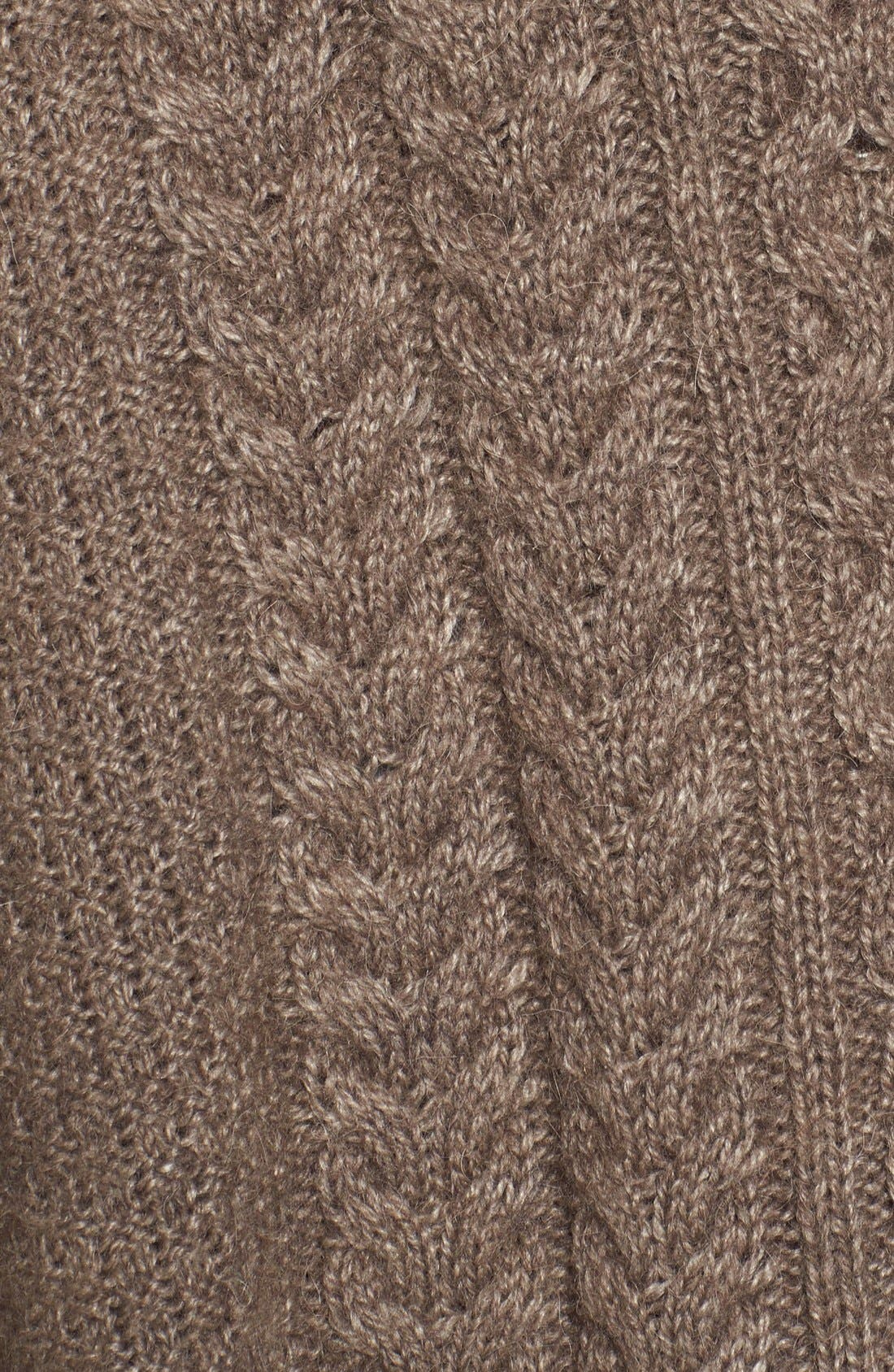 'Clover' Cable Knit Poncho,                             Alternate thumbnail 2, color,                             270