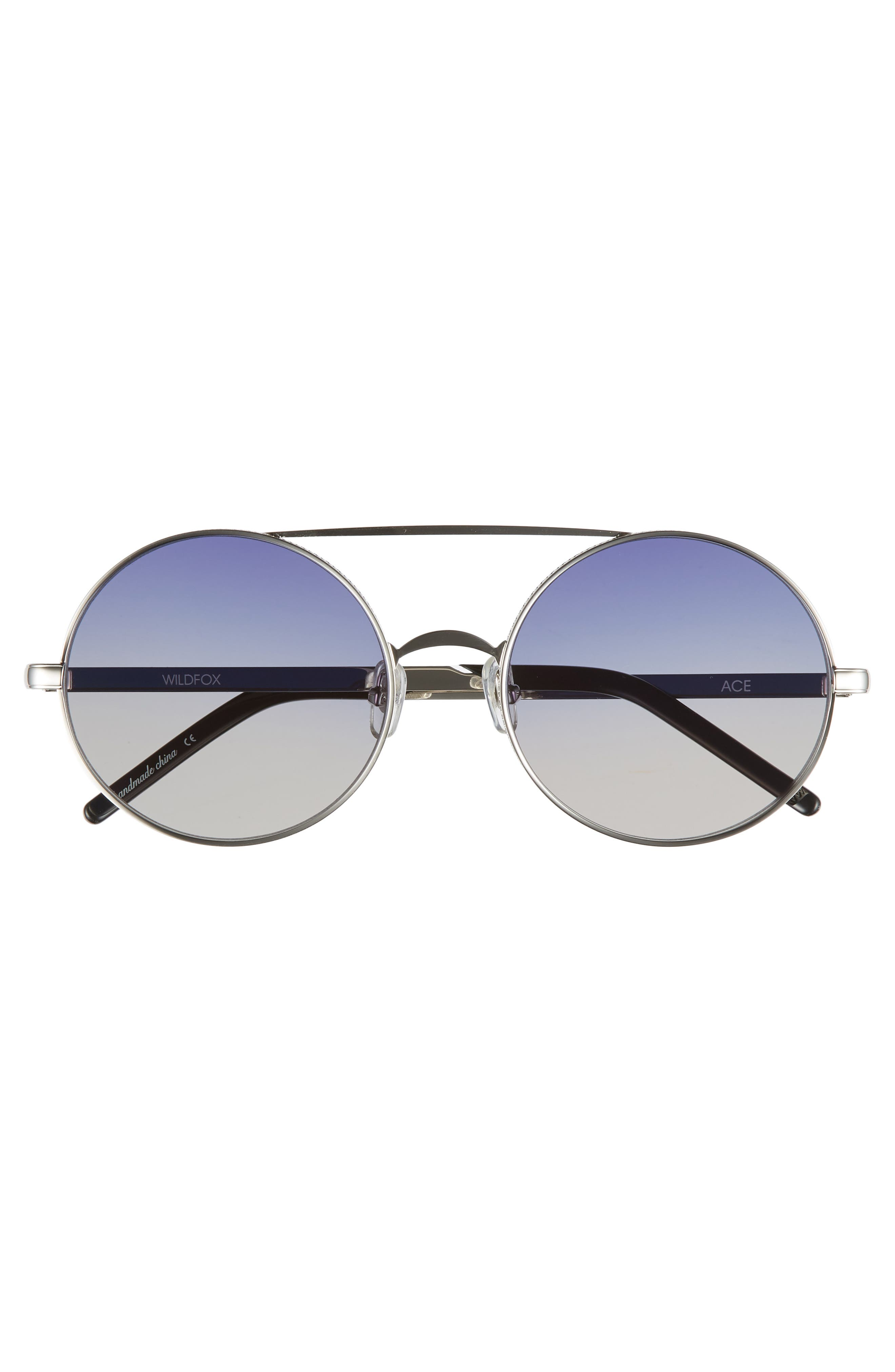 WILDFOX,                             Ace 55mm Round Sunglasses,                             Alternate thumbnail 3, color,                             040
