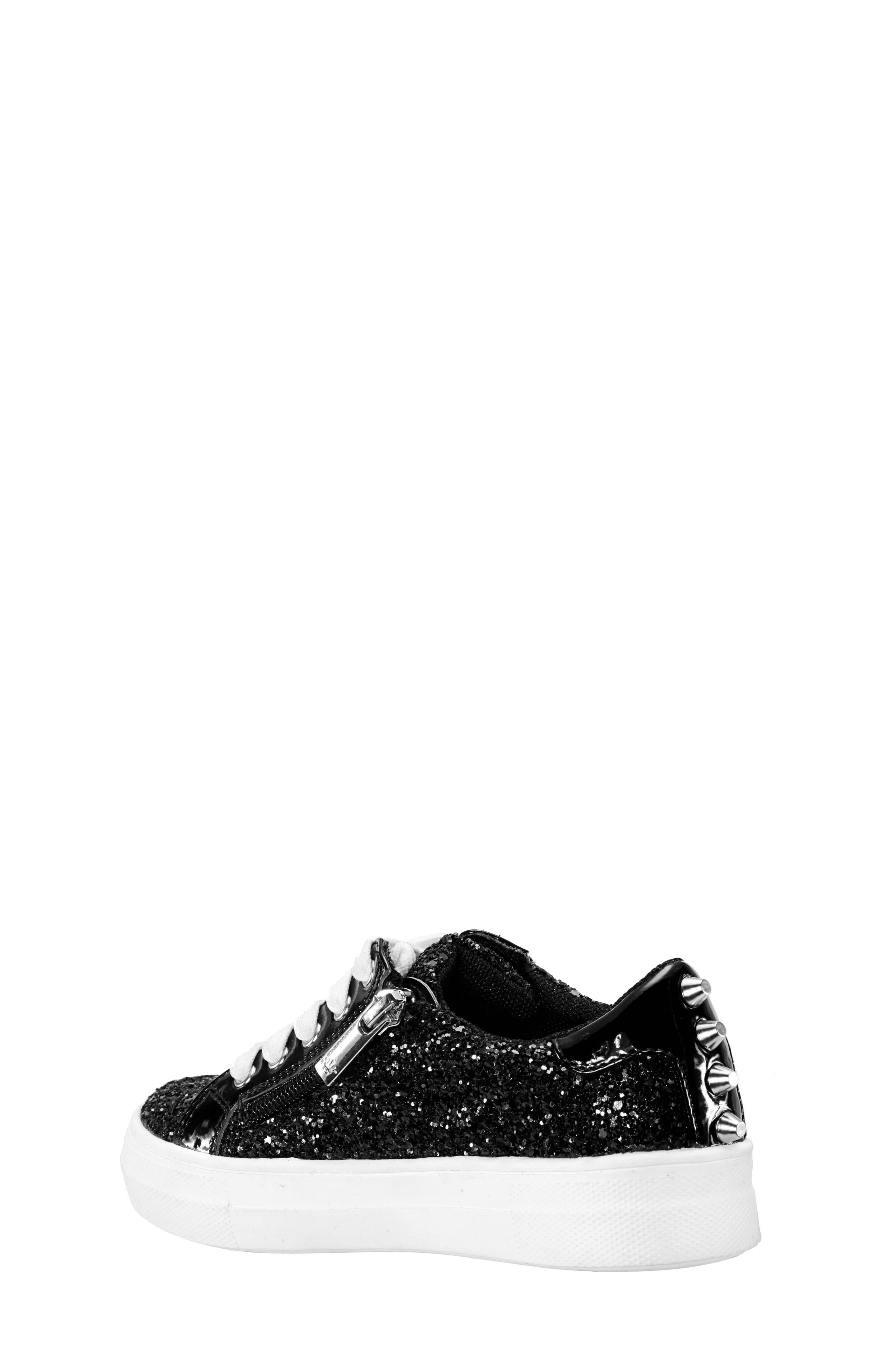 Hazeline-N Glitter Sneaker,                             Alternate thumbnail 2, color,                             BLACK CHUNKY GLITTER