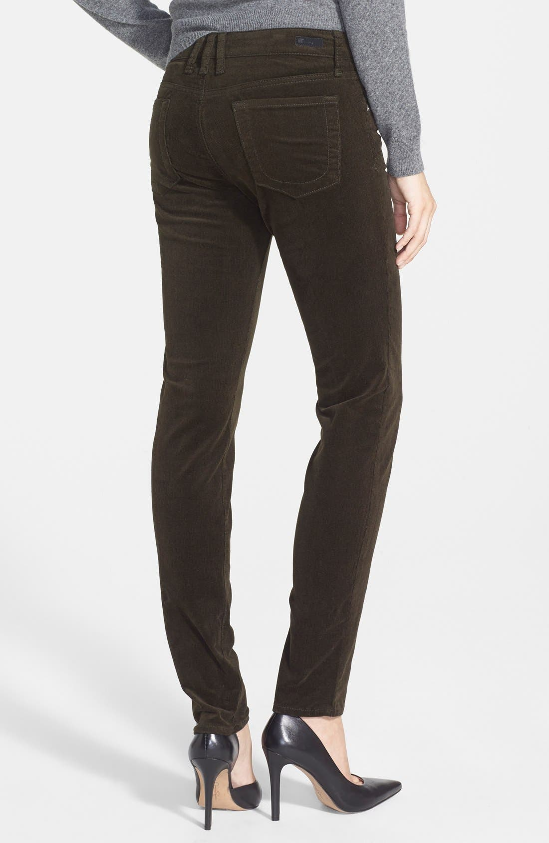 'Diana' Stretch Corduroy Skinny Pants,                             Alternate thumbnail 77, color,