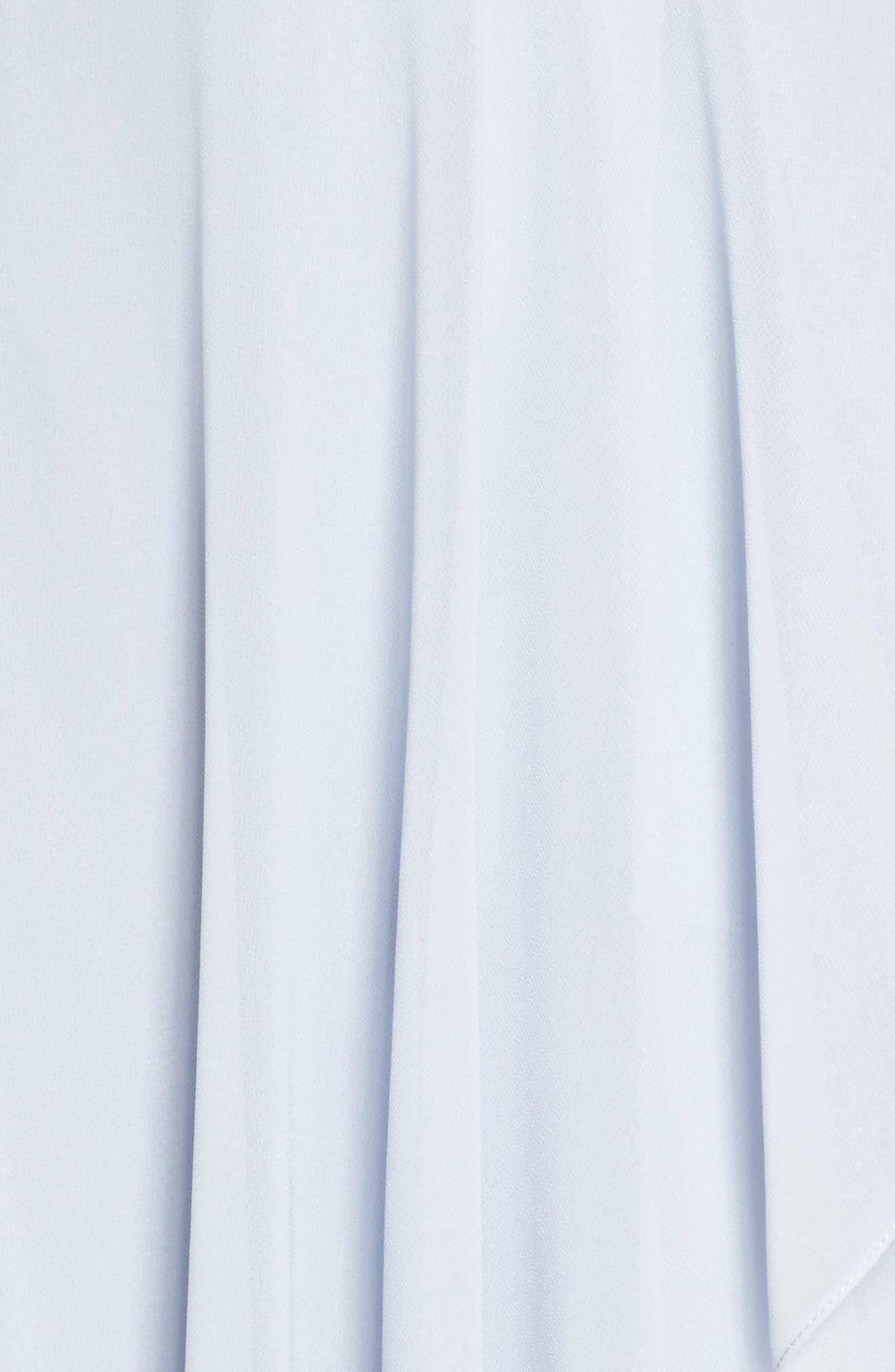 JENNY YOO, Farrah Ruffle Chiffon Gown, Alternate thumbnail 7, color, WHISPER BLUE