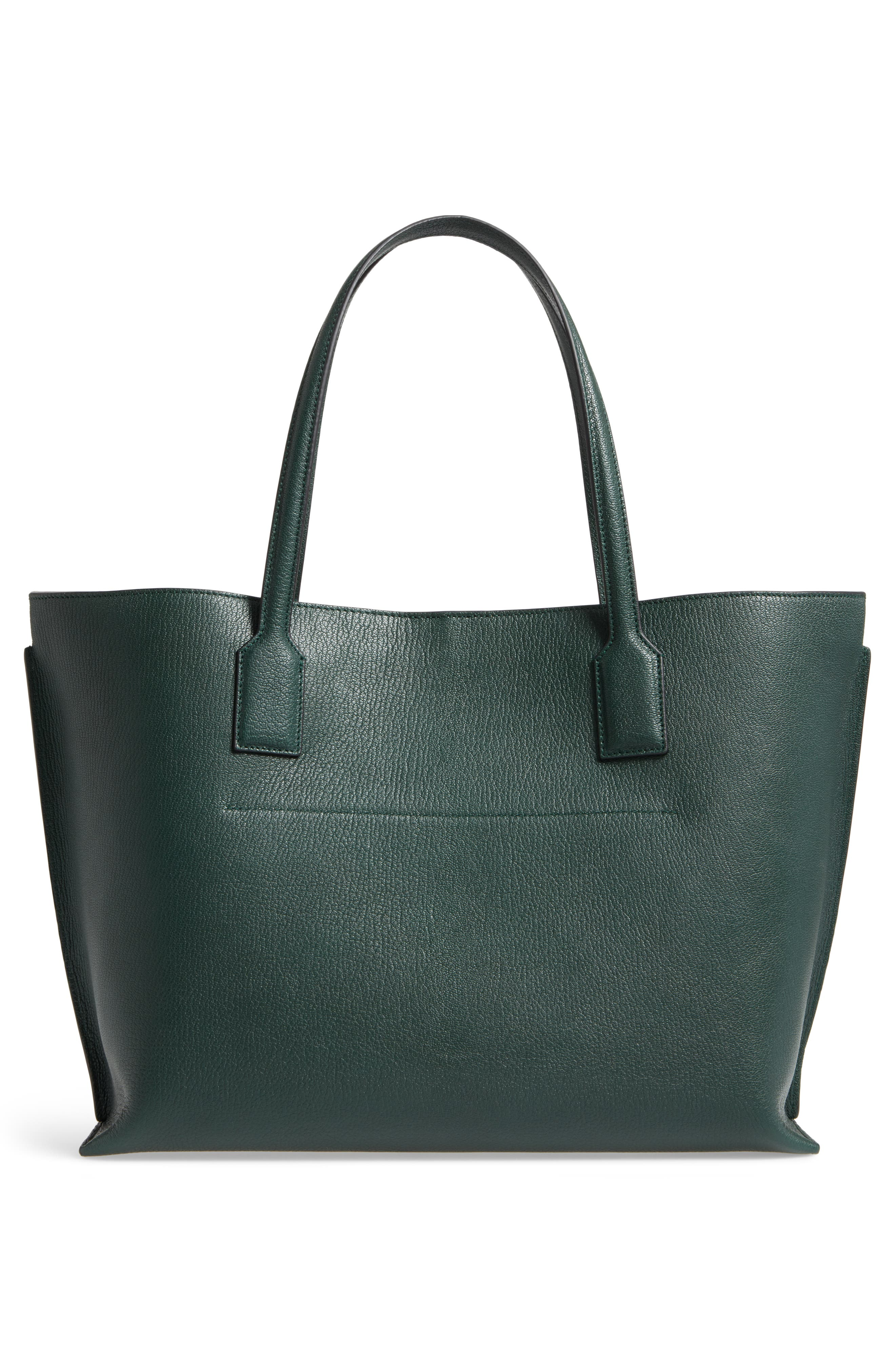 Large Leather T-Shopper,                             Alternate thumbnail 3, color,                             350