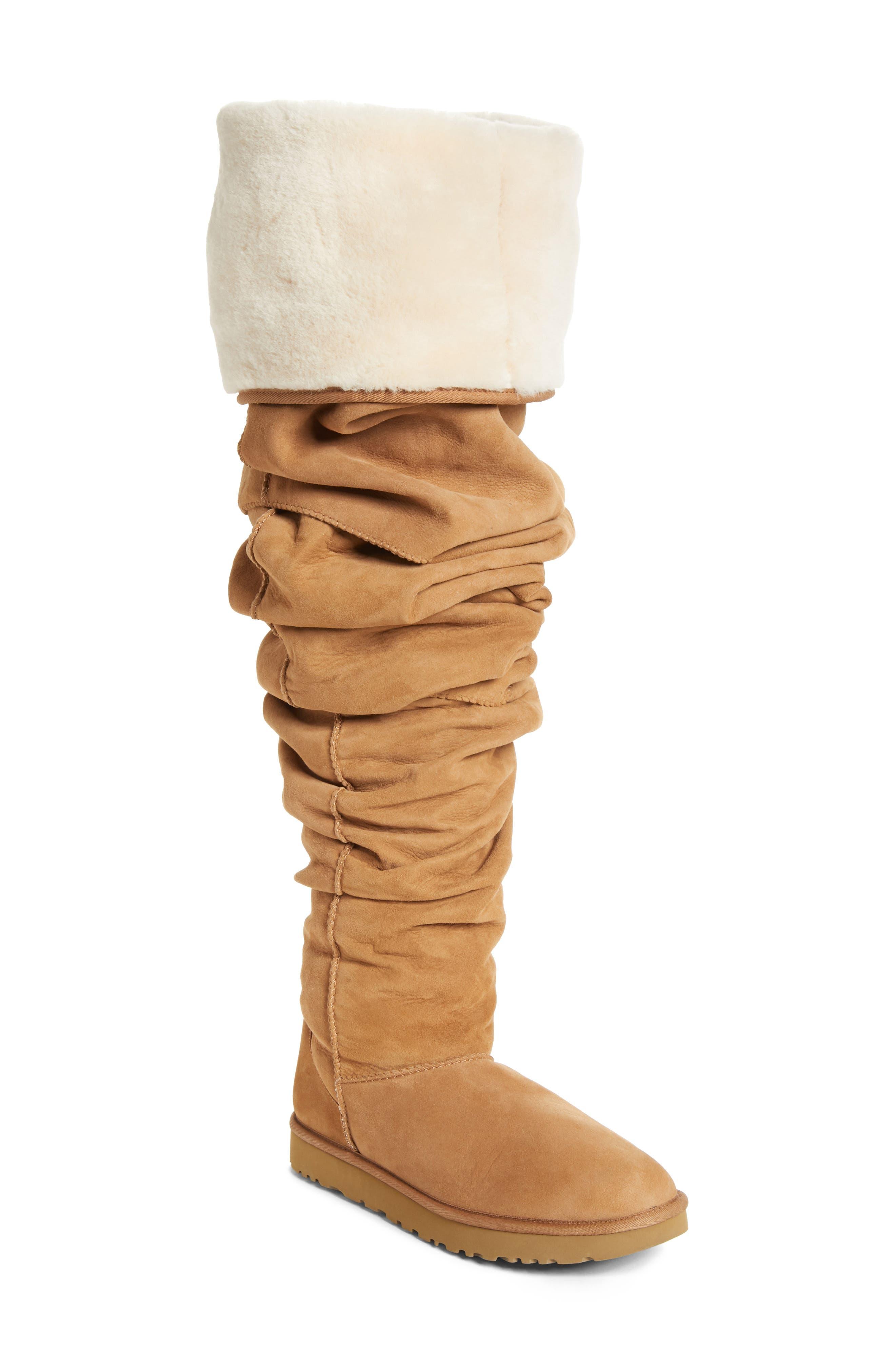 x UGG<sup>®</sup> Thigh High Boot,                             Main thumbnail 1, color,                             BROWN