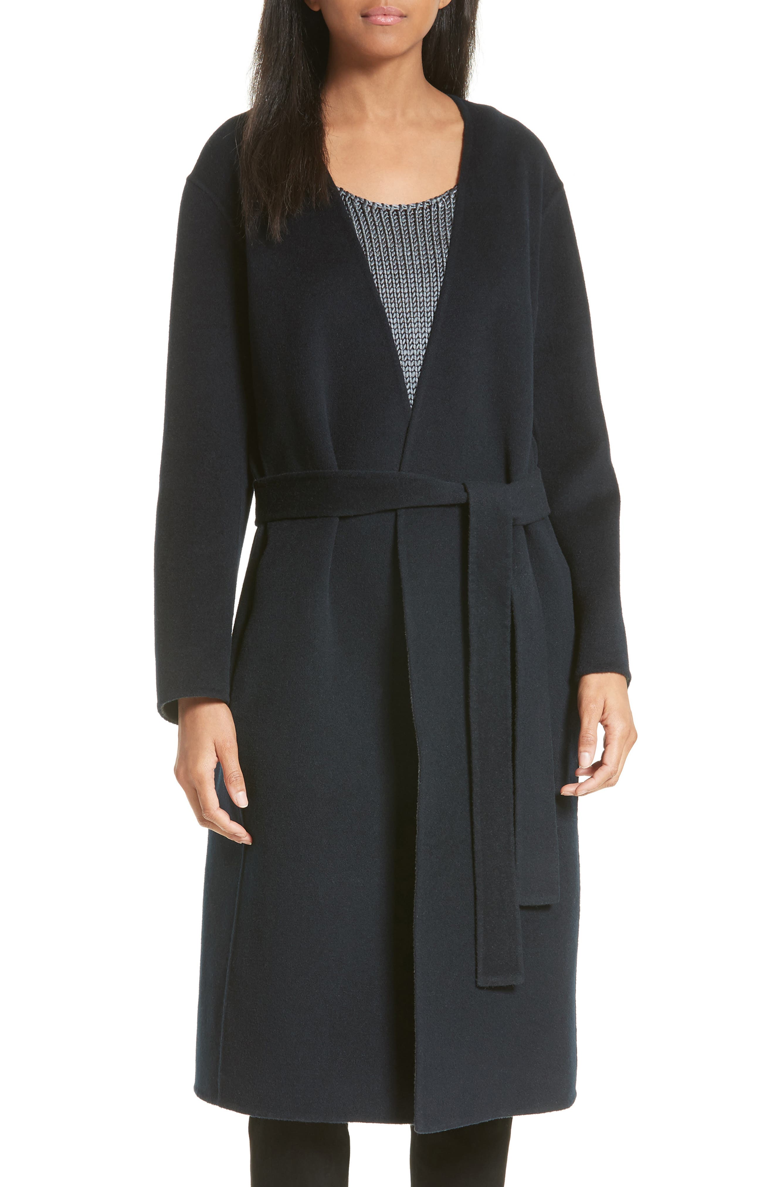 Reversible Wool & Cashmere Belted Coat,                             Main thumbnail 1, color,                             464