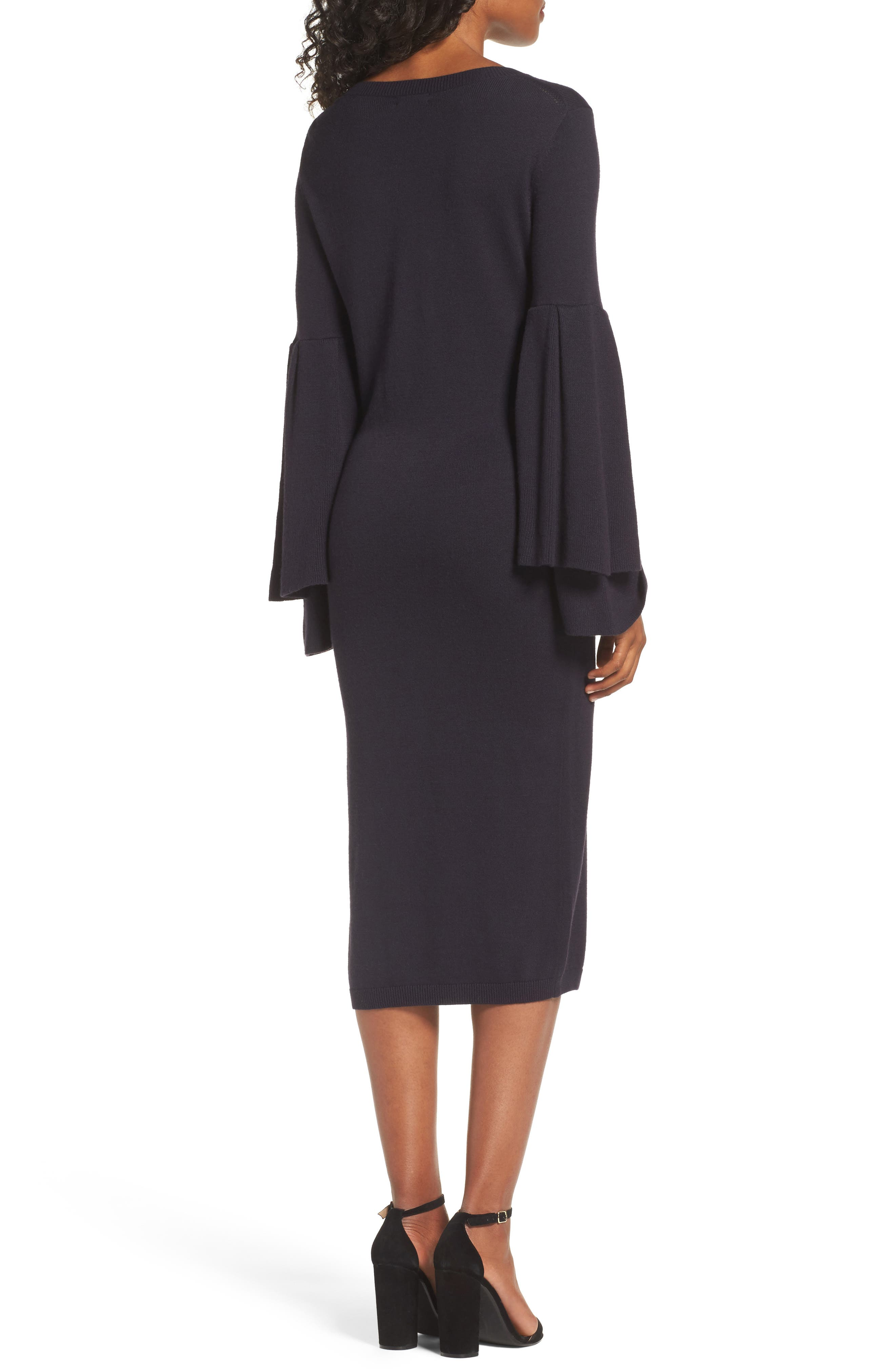 Bell Sleeve Sweater Dress,                             Alternate thumbnail 2, color,                             400