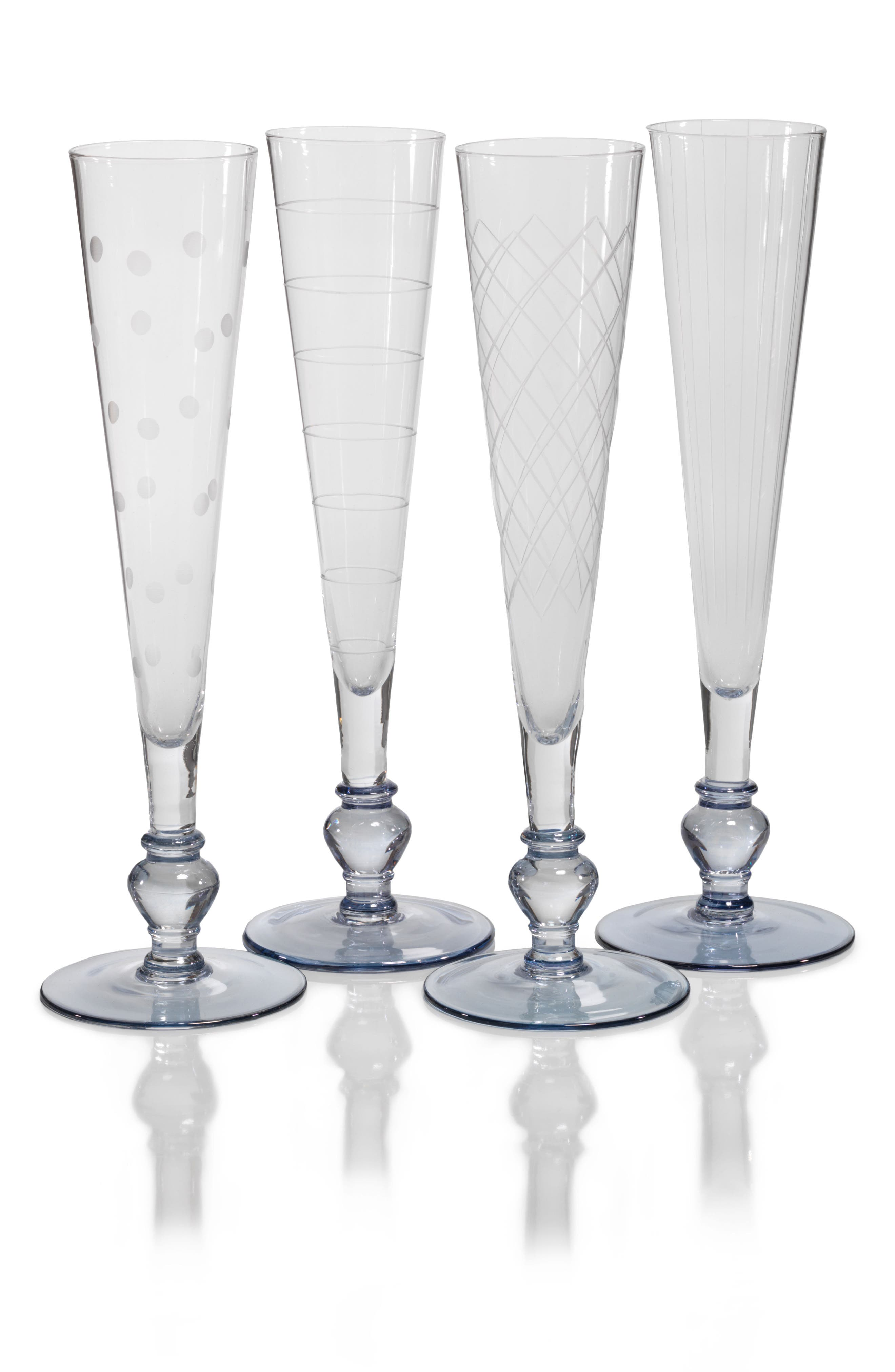 ZODAX,                             Tatiana Set of 4 Champagne Flutes,                             Main thumbnail 1, color,                             400