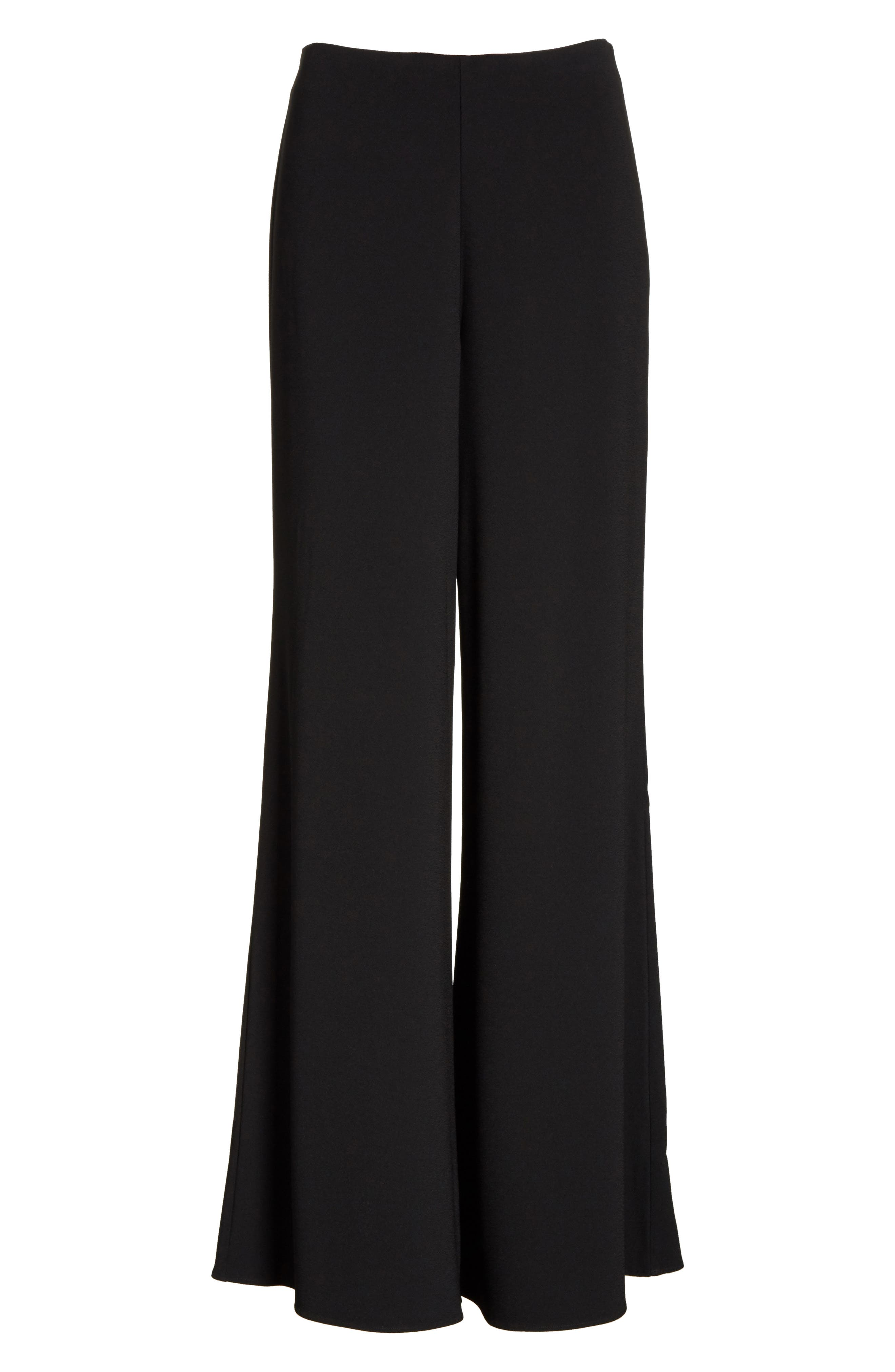 Wide Leg Pants,                             Alternate thumbnail 7, color,                             BLACK
