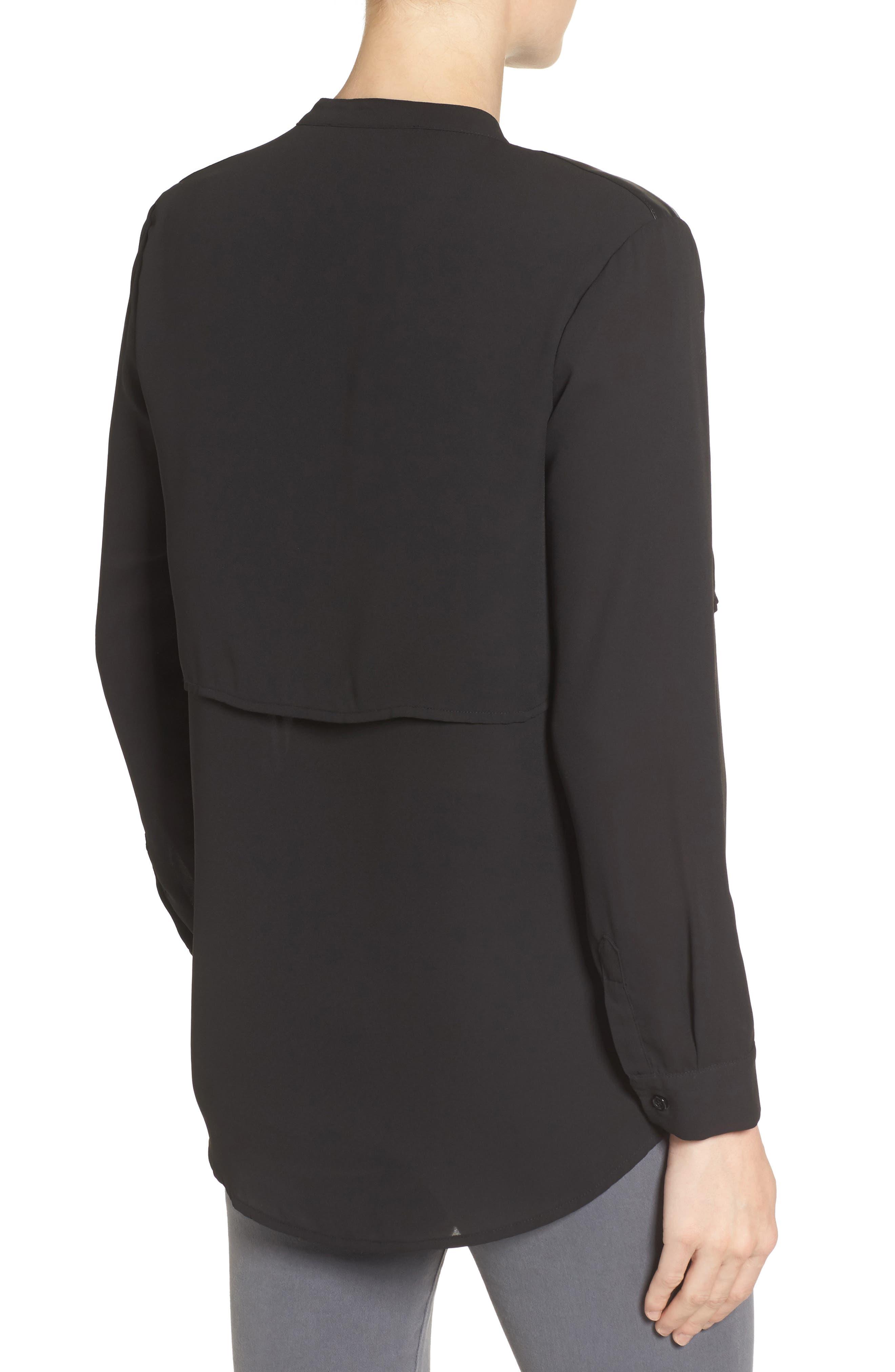 Jenni Maternity/Nursing Shirt,                             Alternate thumbnail 2, color,                             BLACK