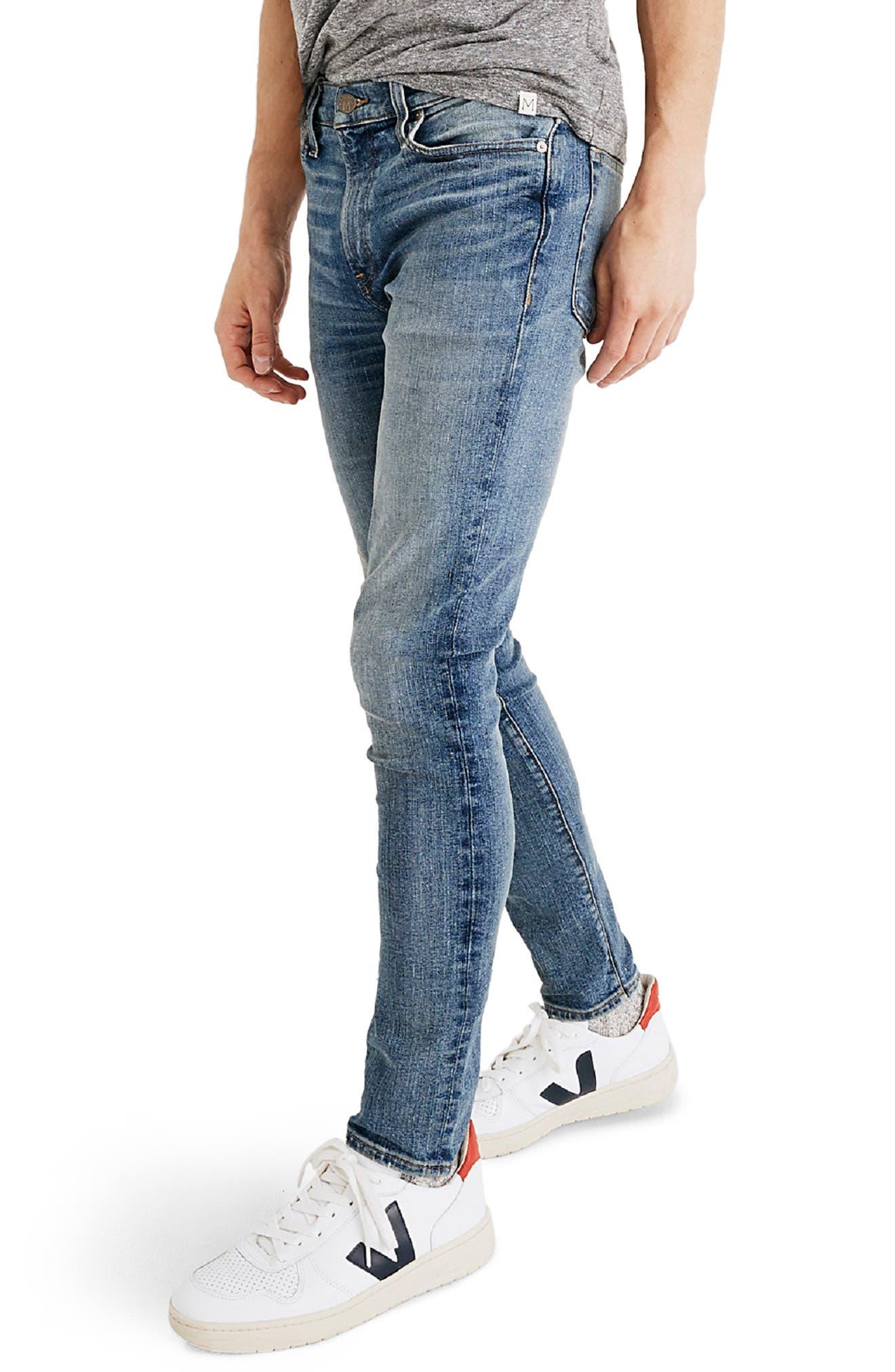 Skinny Jeans,                             Alternate thumbnail 3, color,                             BAYWOOD WASH