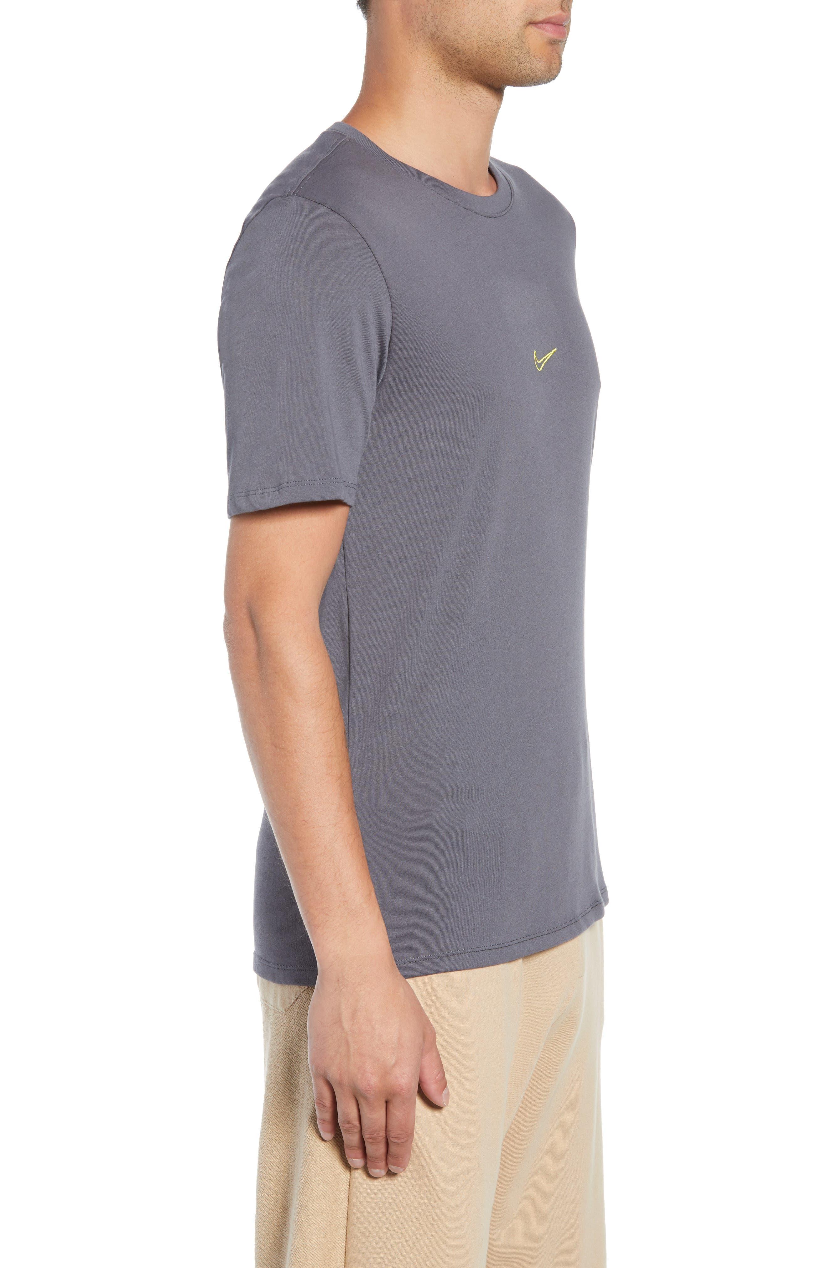 SB Dry Tropical Graphic T-Shirt,                             Alternate thumbnail 3, color,                             DARK GREY/ DYNAMIC YELLOW