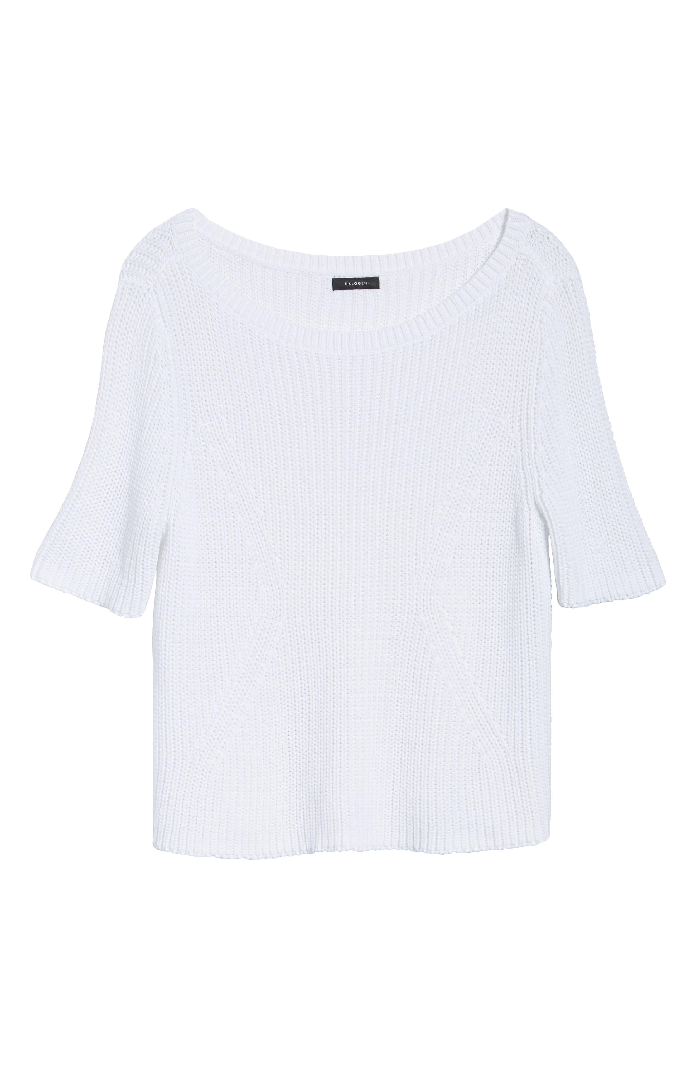 Shaker Stitch Cotton Sweater,                             Alternate thumbnail 12, color,
