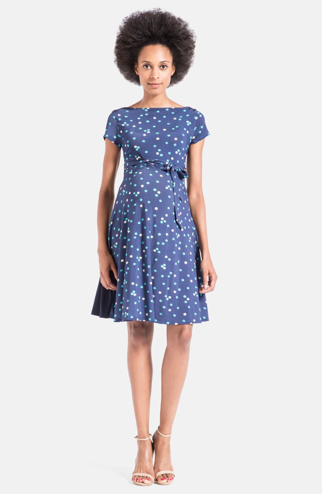 'Ilana' A-Line Maternity Dress,                             Main thumbnail 3, color,