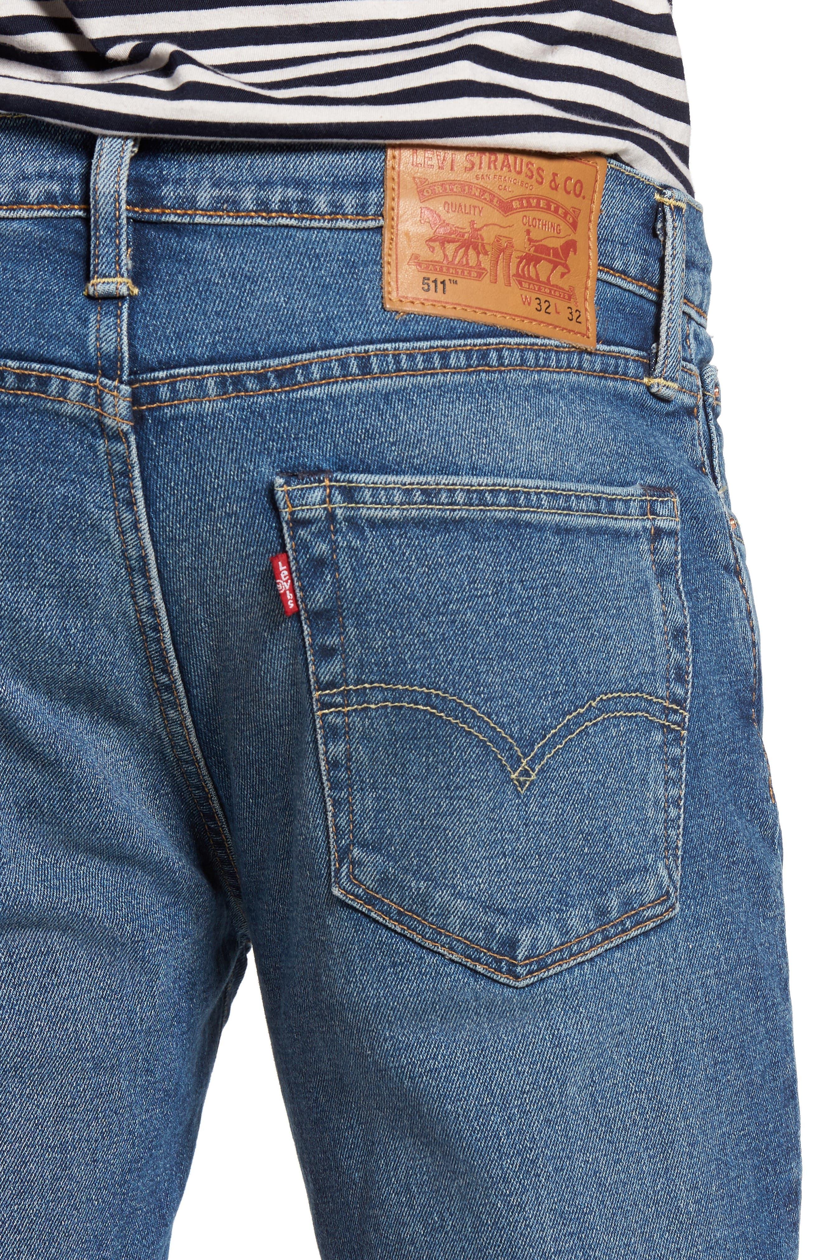 511<sup>™</sup> Slim Fit Jeans,                             Alternate thumbnail 4, color,                             401