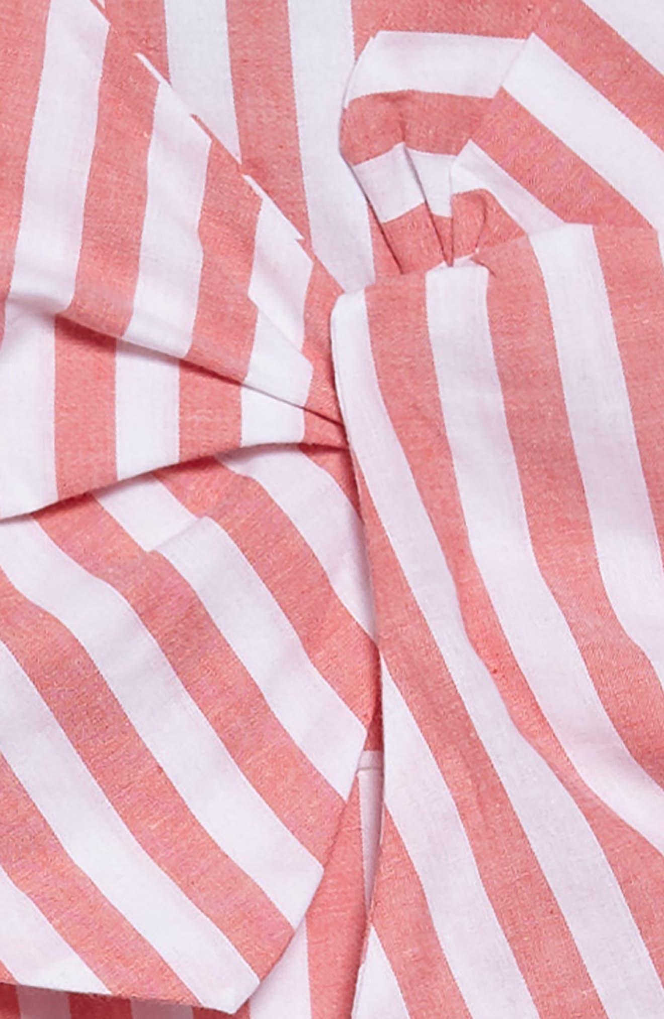 Mable Stripe Dress,                             Alternate thumbnail 3, color,                             600