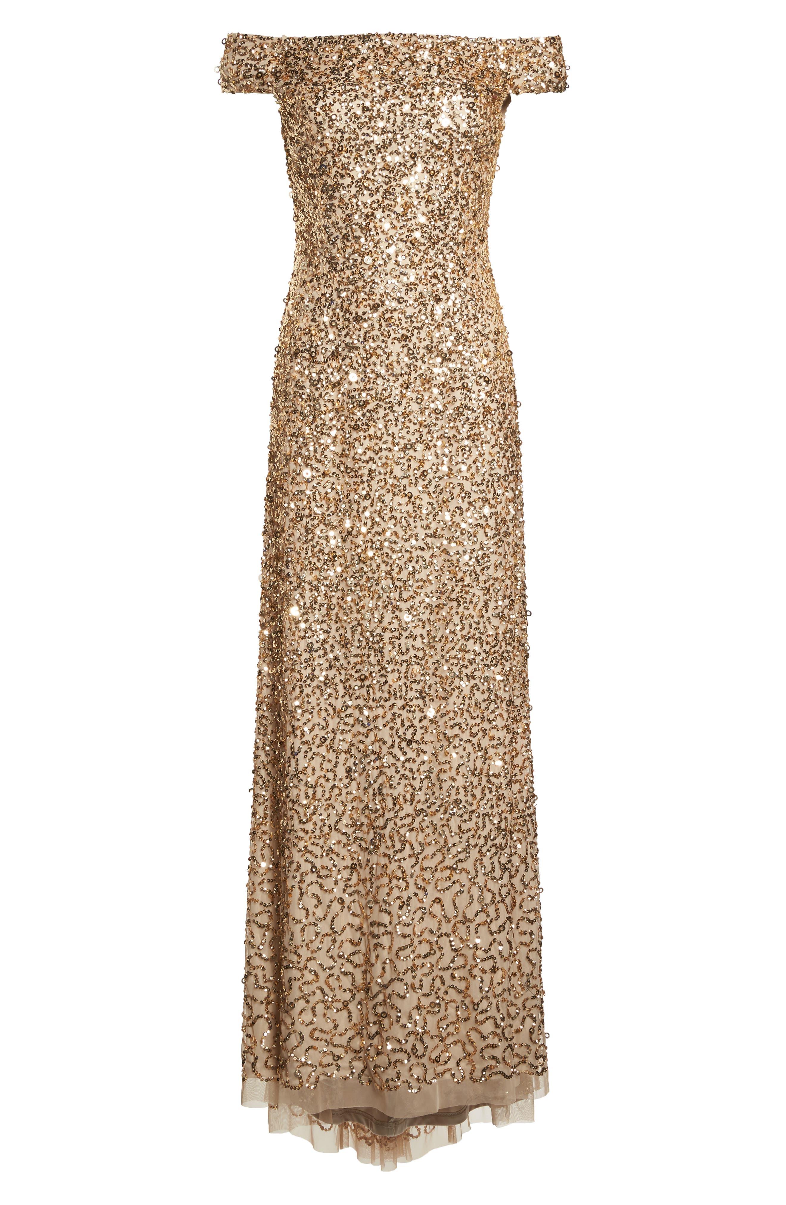 Sequin Mesh Gown,                             Alternate thumbnail 27, color,