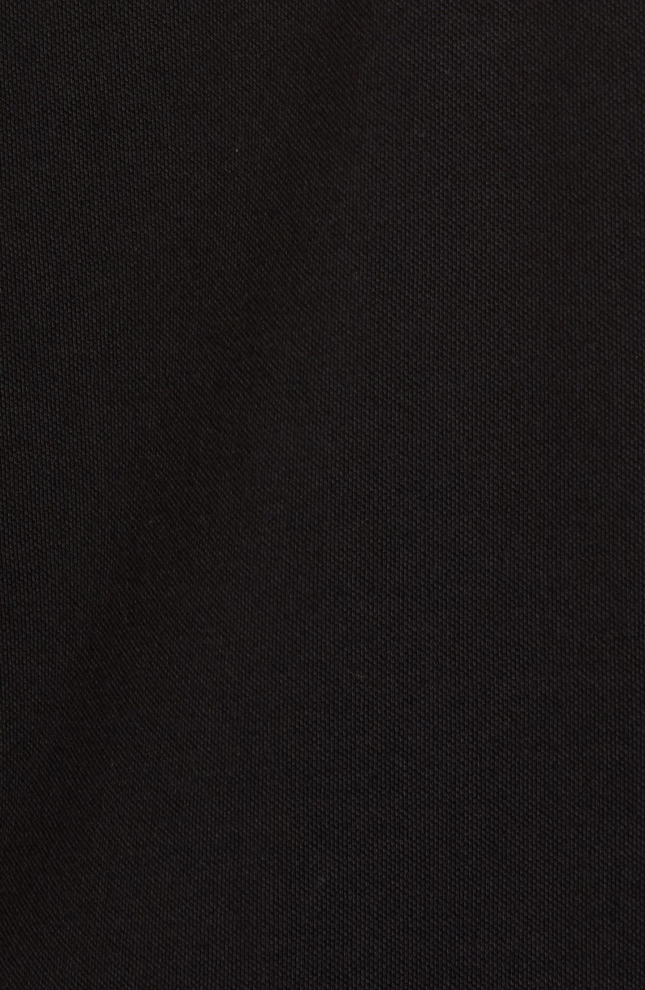Shively Piqué Knit Sport Shirt,                             Alternate thumbnail 5, color,                             001