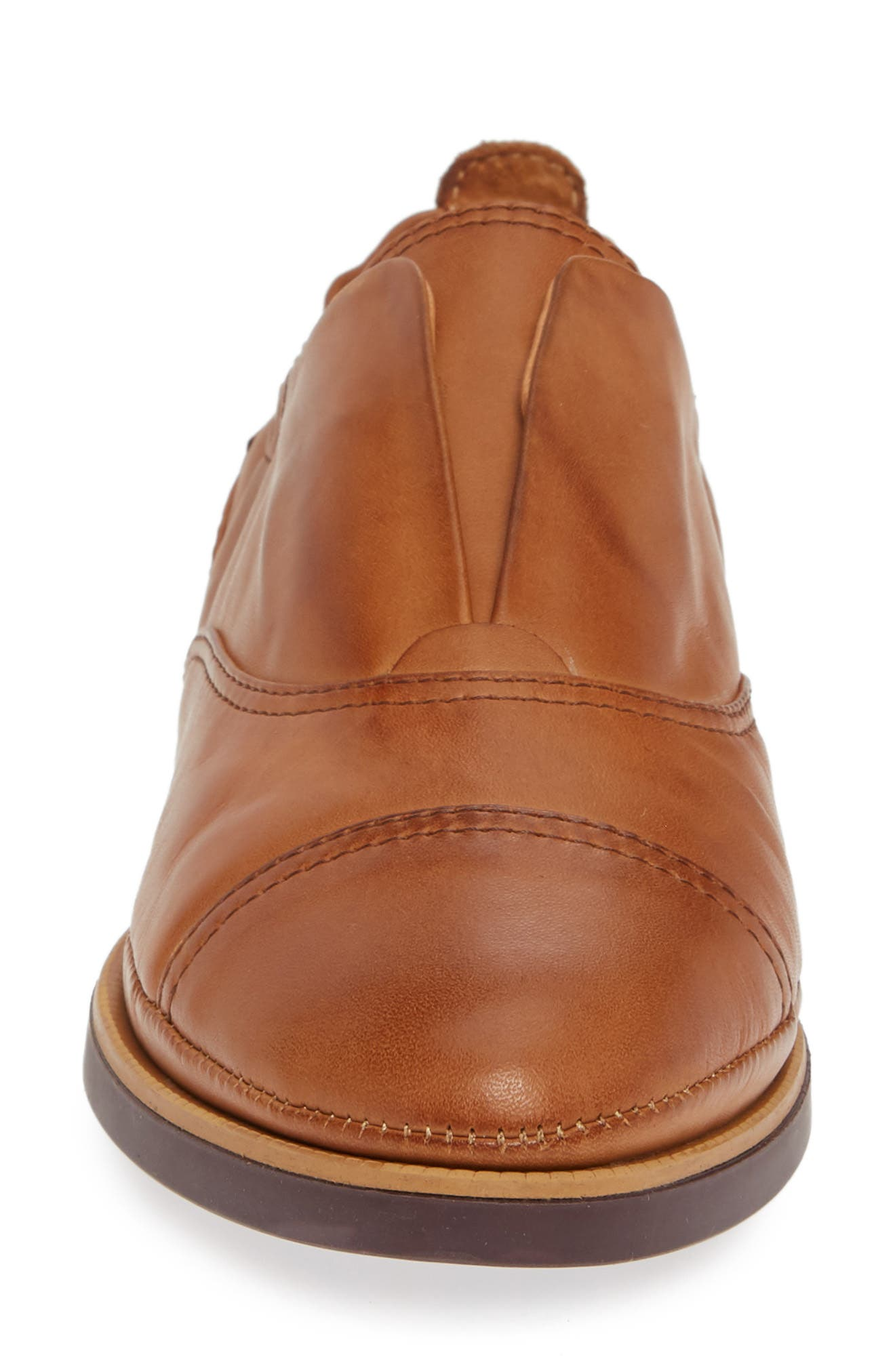 Santorini Colorblock Laceless Oxford,                             Alternate thumbnail 4, color,                             BRANDY LEATHER