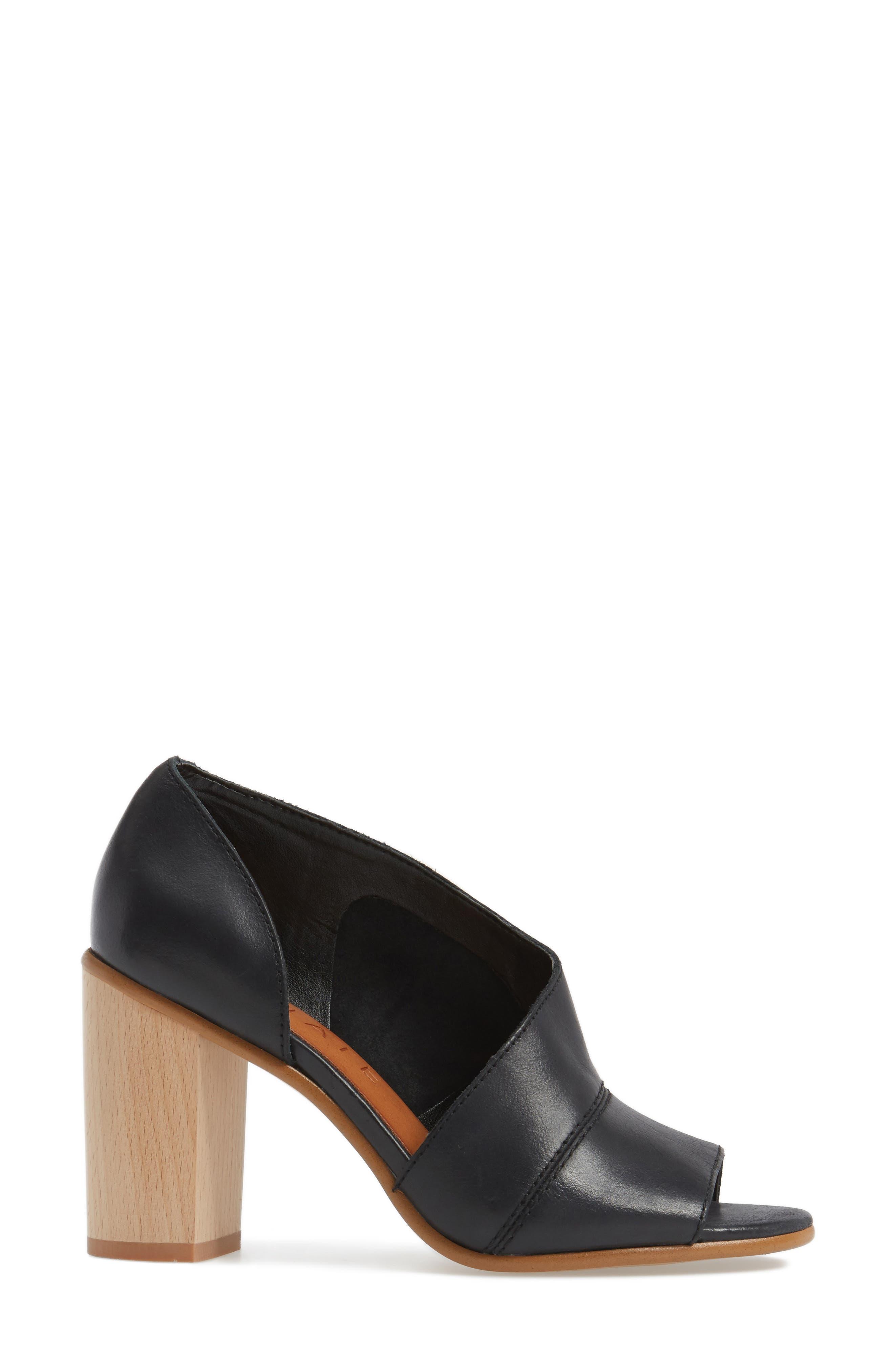 Amble Asymmetrical Sandal,                             Alternate thumbnail 3, color,                             001