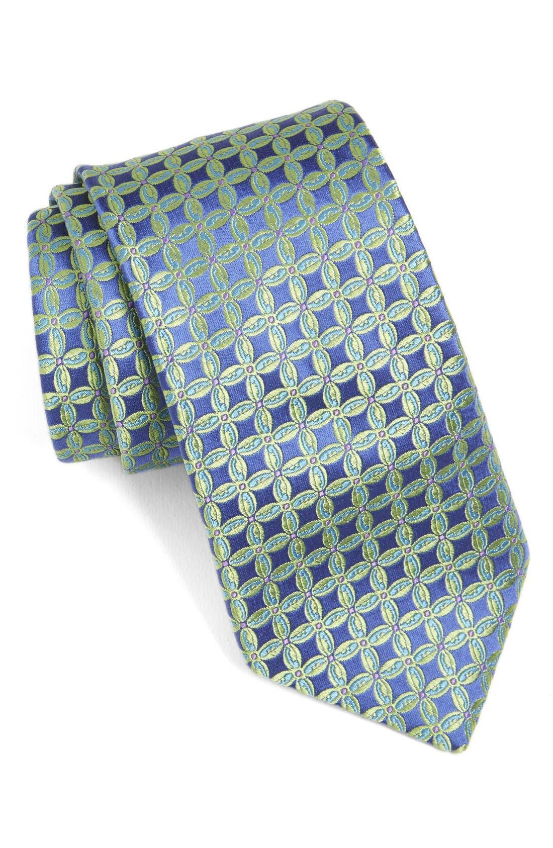 Geometric Silk Tie,                             Main thumbnail 2, color,