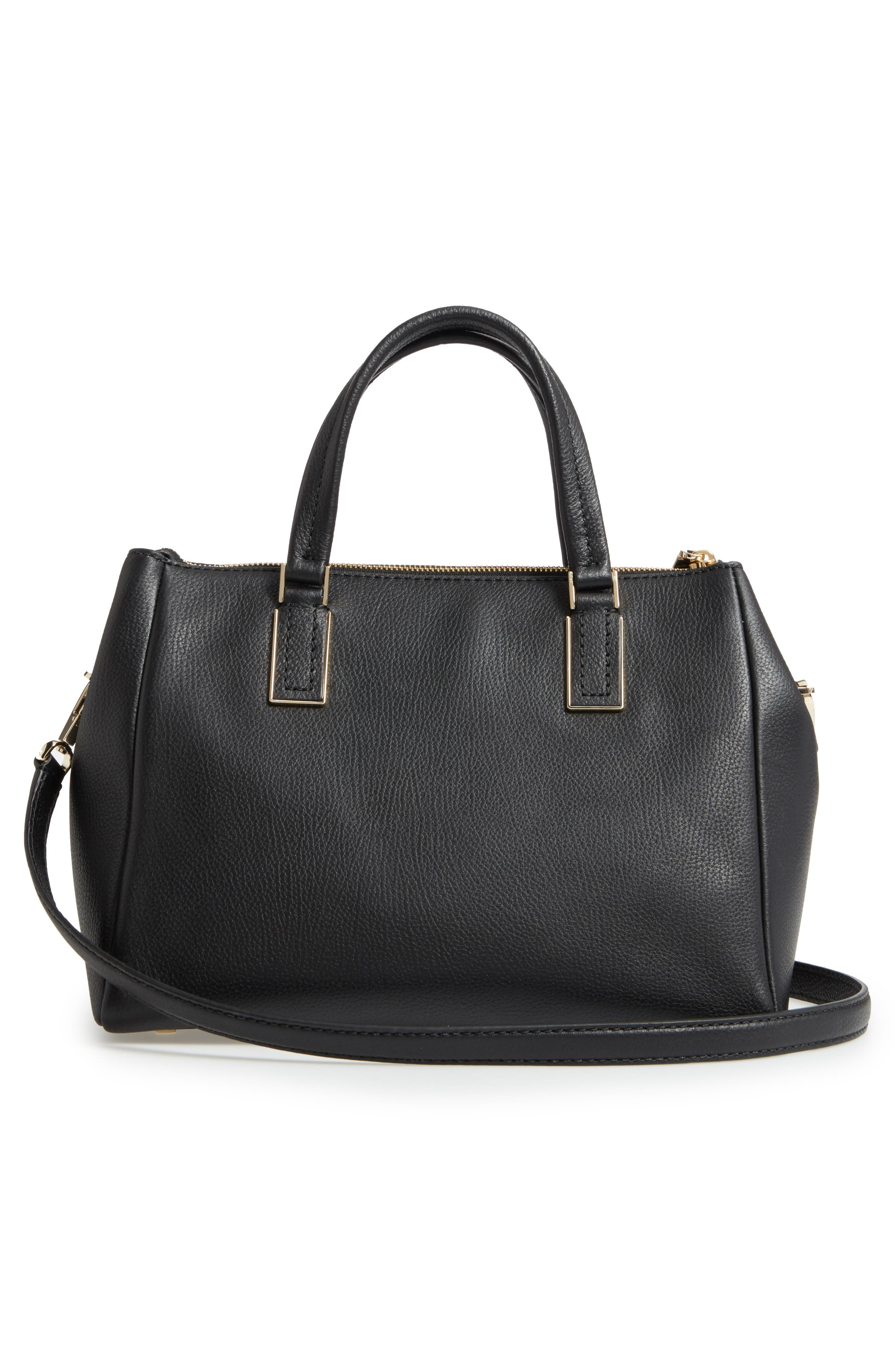 kingston drive - alena leather satchel,                             Alternate thumbnail 3, color,                             001