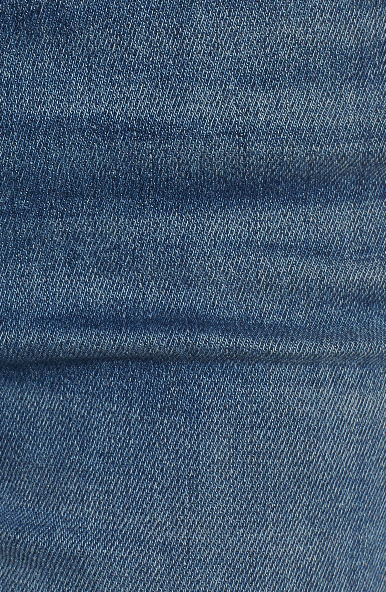 The Looker Frayed Ankle Jeans,                             Alternate thumbnail 6, color,                             420