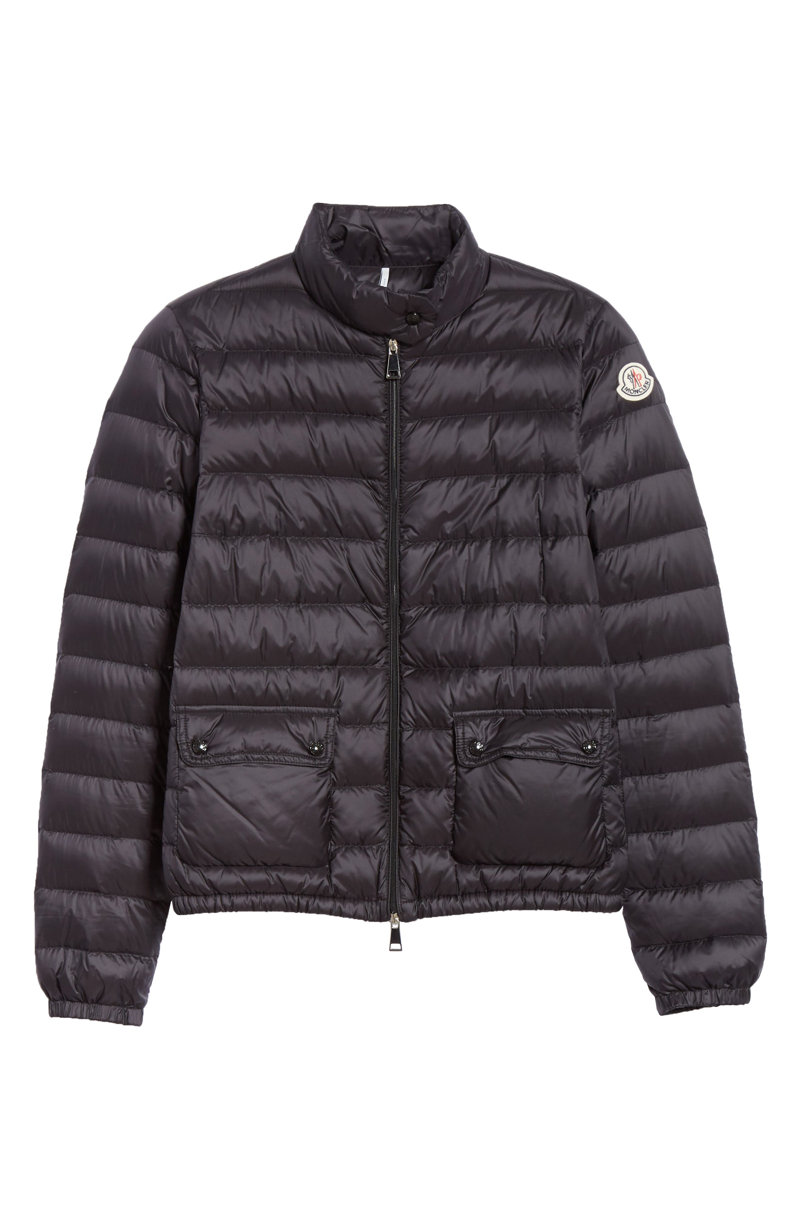 Lans Water Resistant Quilted Down Jacket,                             Alternate thumbnail 5, color,                             BLACK