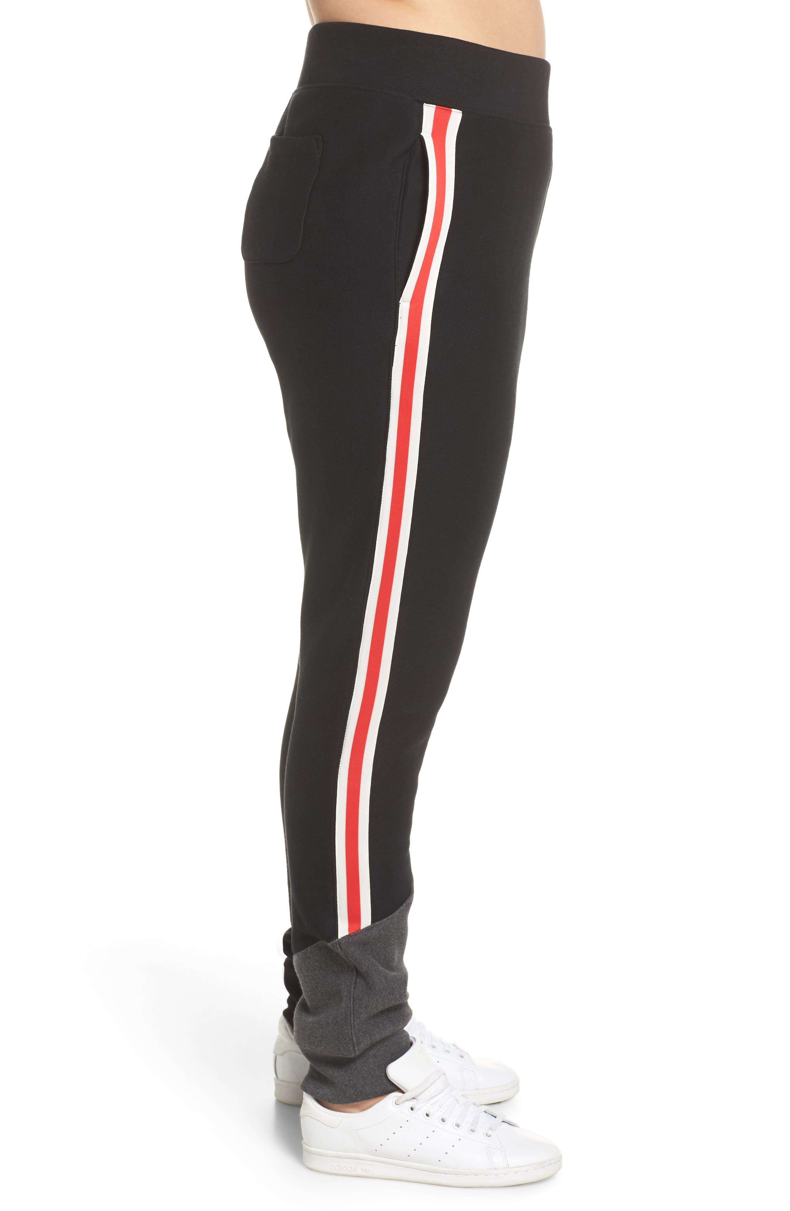 Color Block Jogger Pants,                             Alternate thumbnail 7, color,                             BLACK/ GRANITE HEATHER