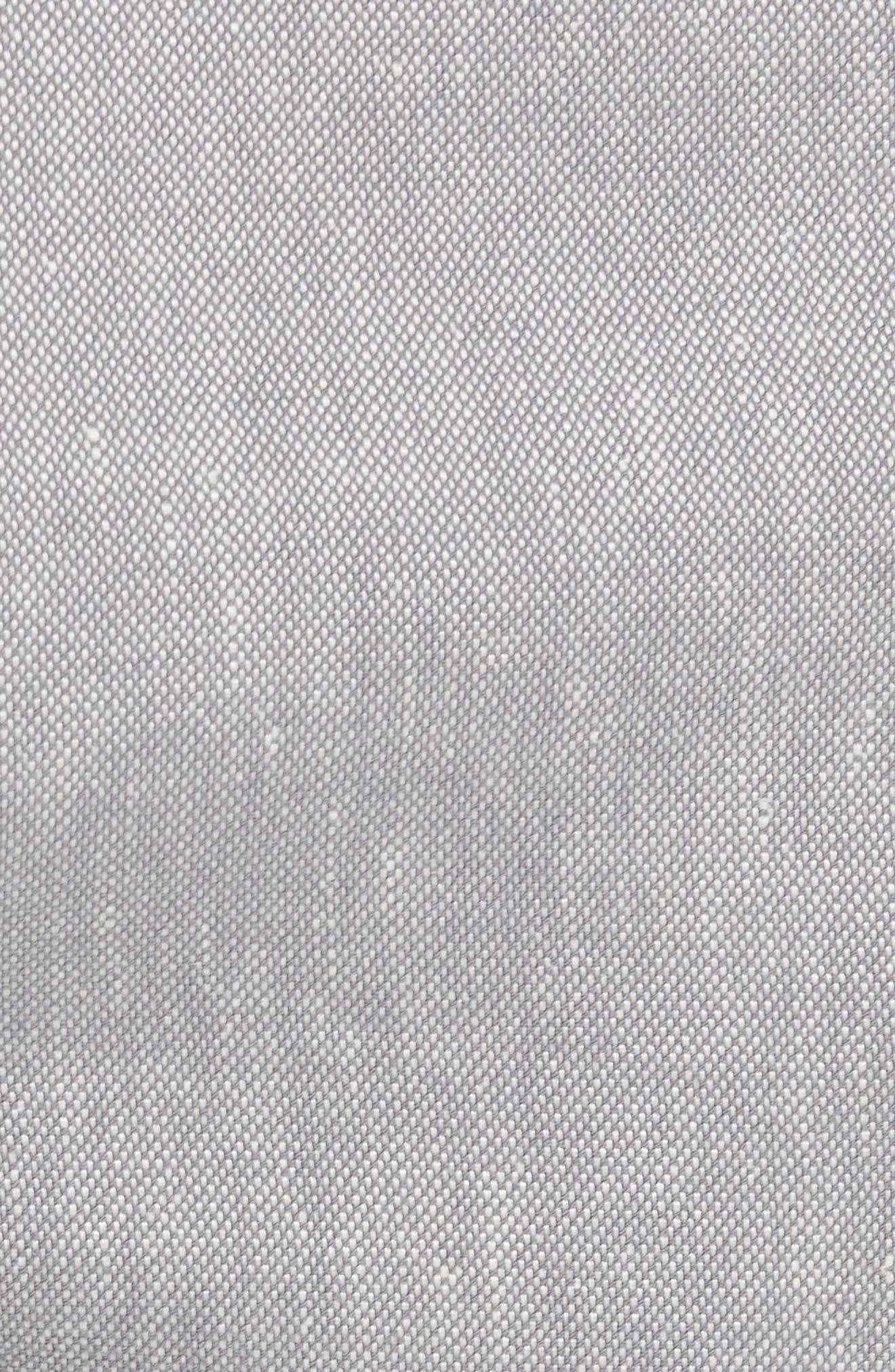 Newshow Flat Front Stretch Cotton Blend Shorts,                             Alternate thumbnail 5, color,                             GREY