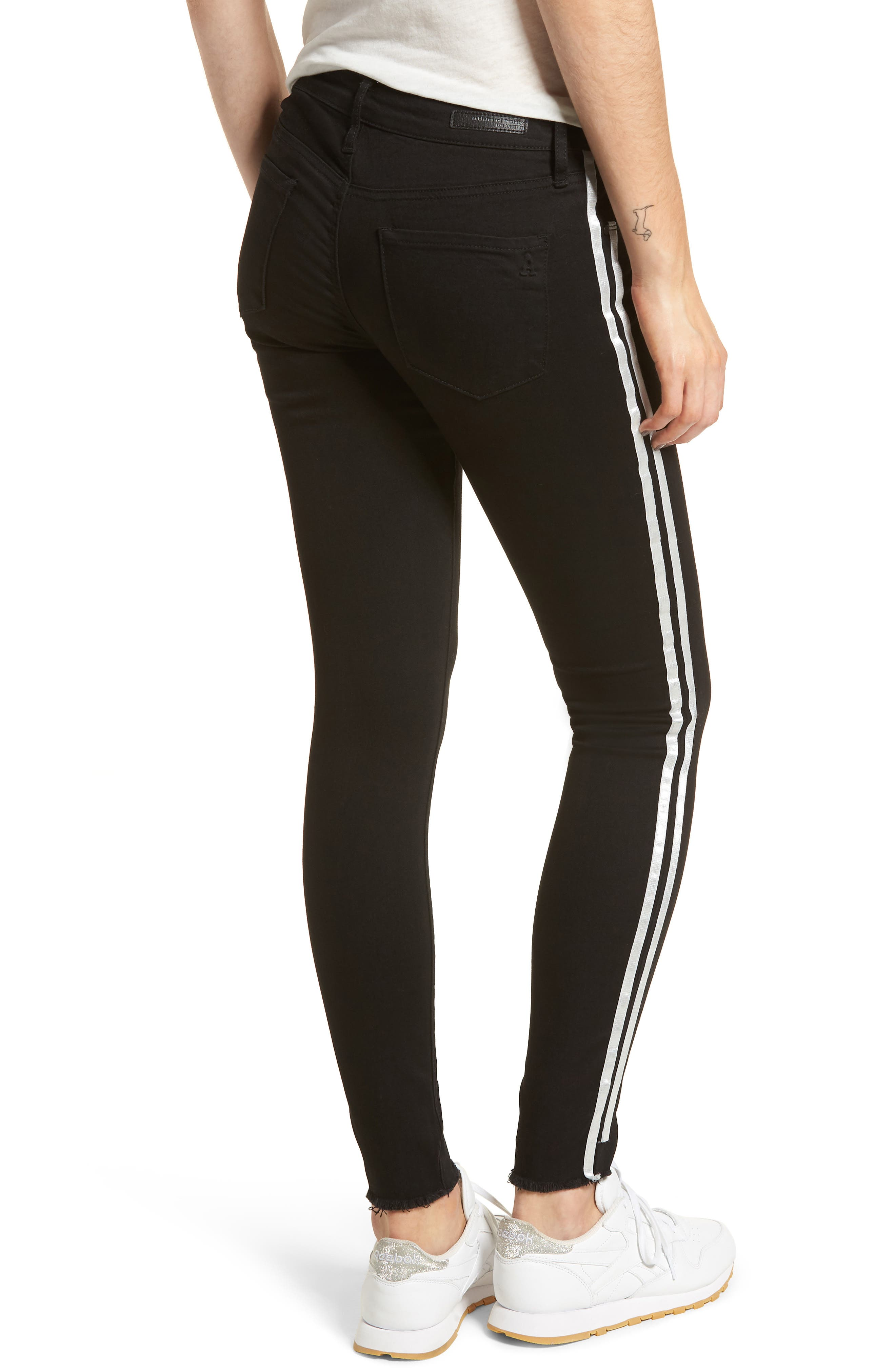 Sarah Stripe Skinny Jeans,                             Alternate thumbnail 2, color,                             011