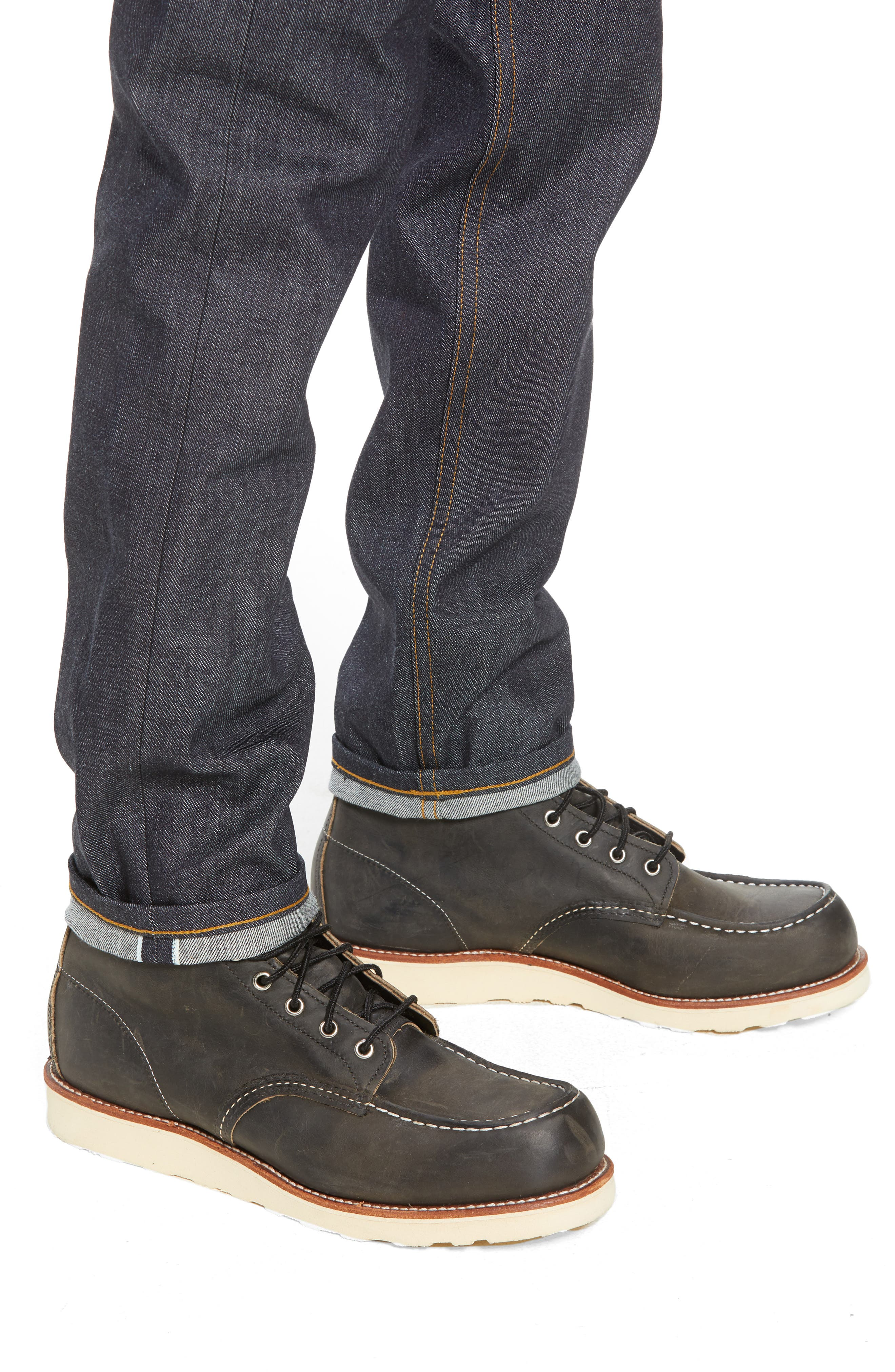 Easy Guy Skinny Fit Jeans,                             Alternate thumbnail 4, color,                             LEFT HAND TWILL SELVEDGE