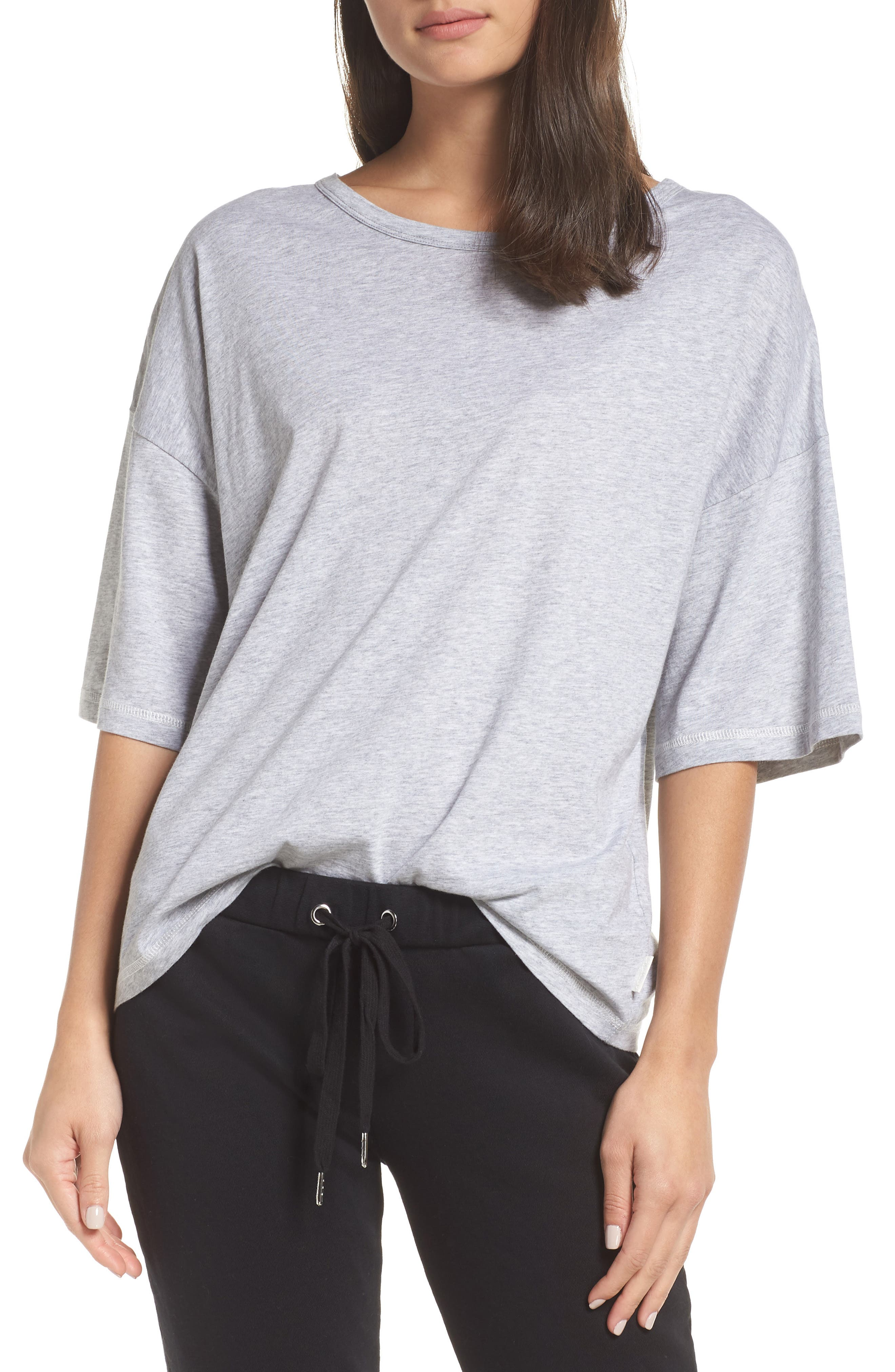 Soph Lounge Shirt,                         Main,                         color, SMOKE MARLE