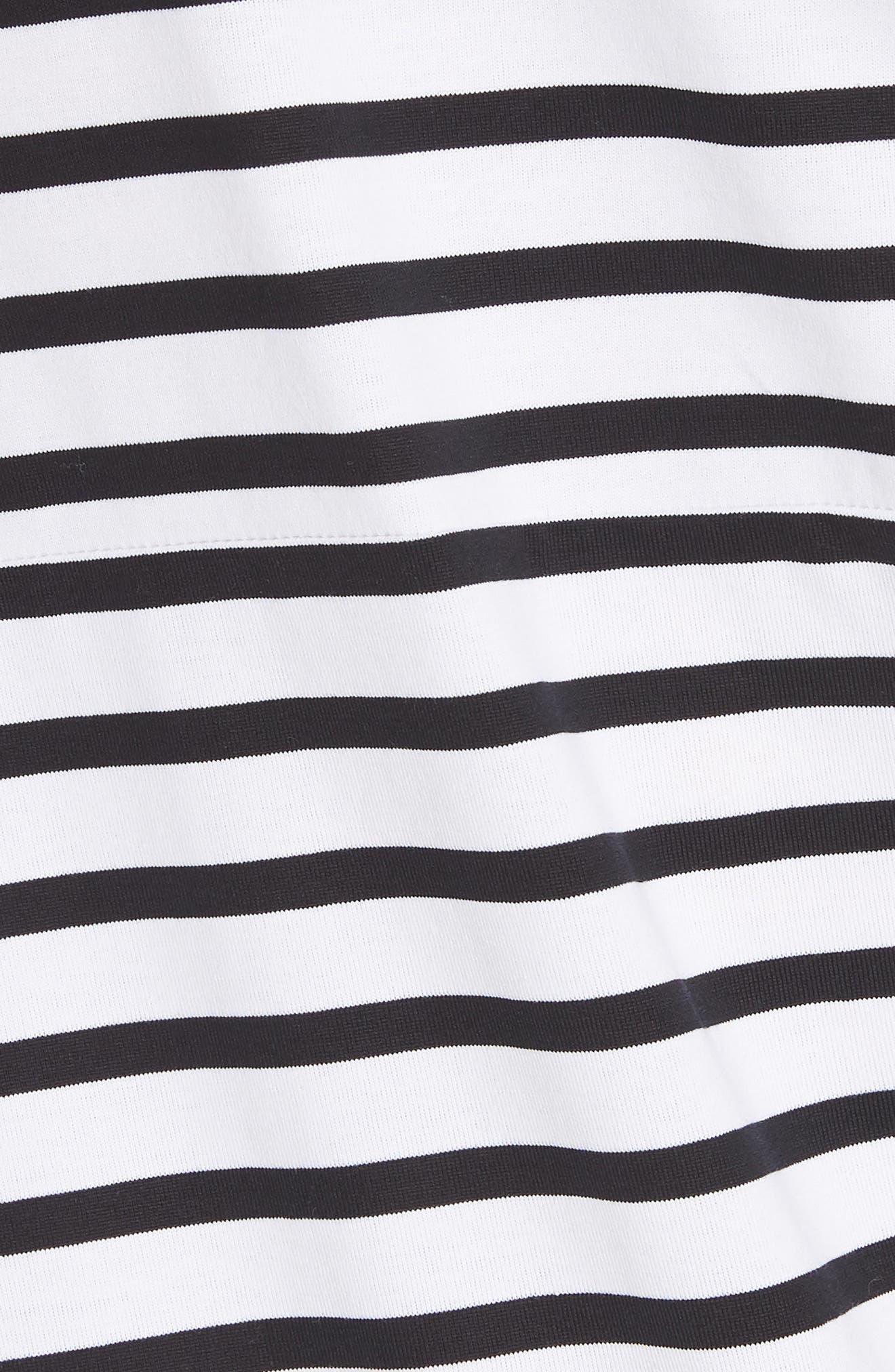 Asymmetrical Stripe Dress,                             Alternate thumbnail 5, color,                             100