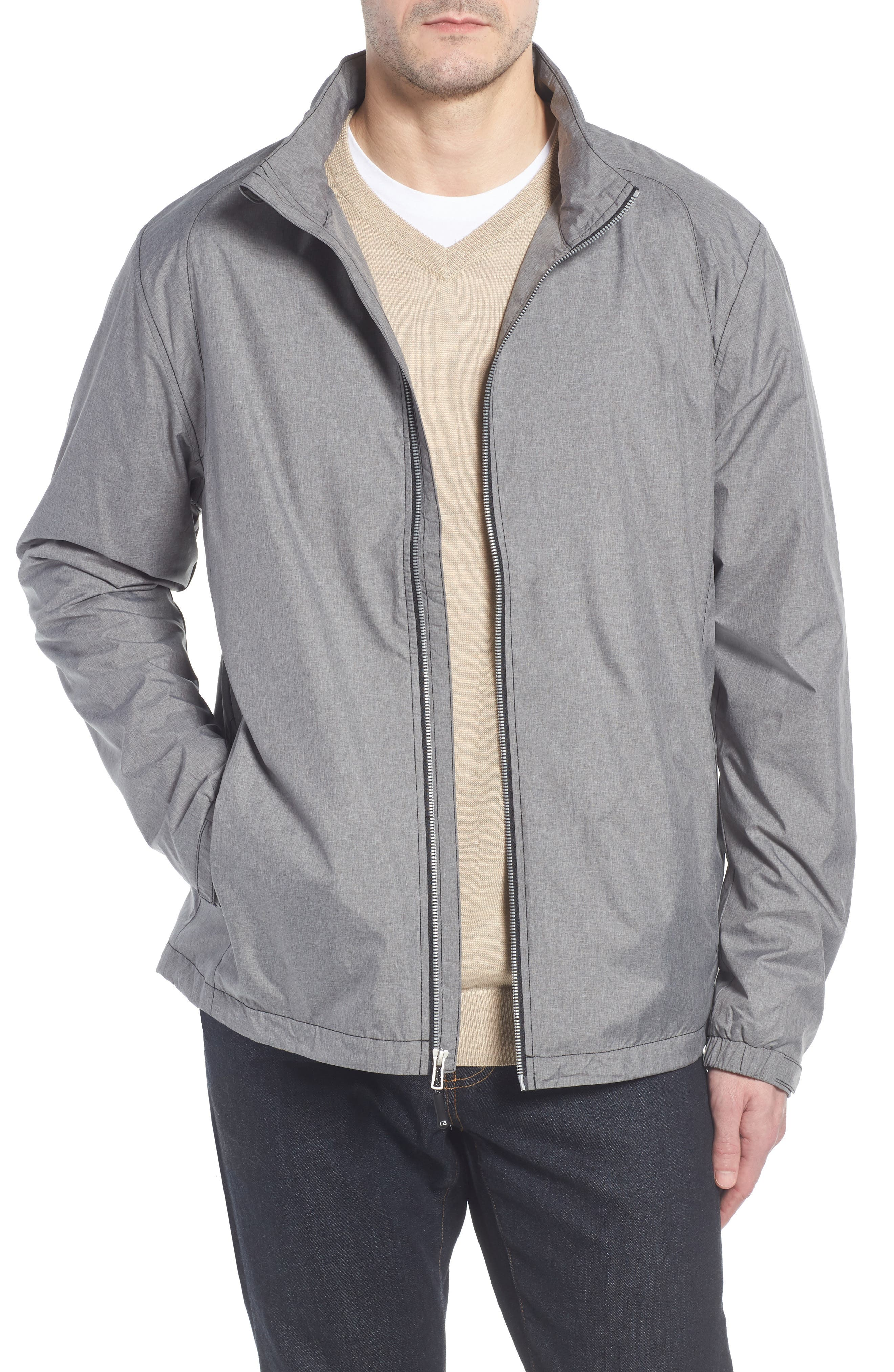 Panoramic Packable Jacket,                         Main,                         color, BLACK