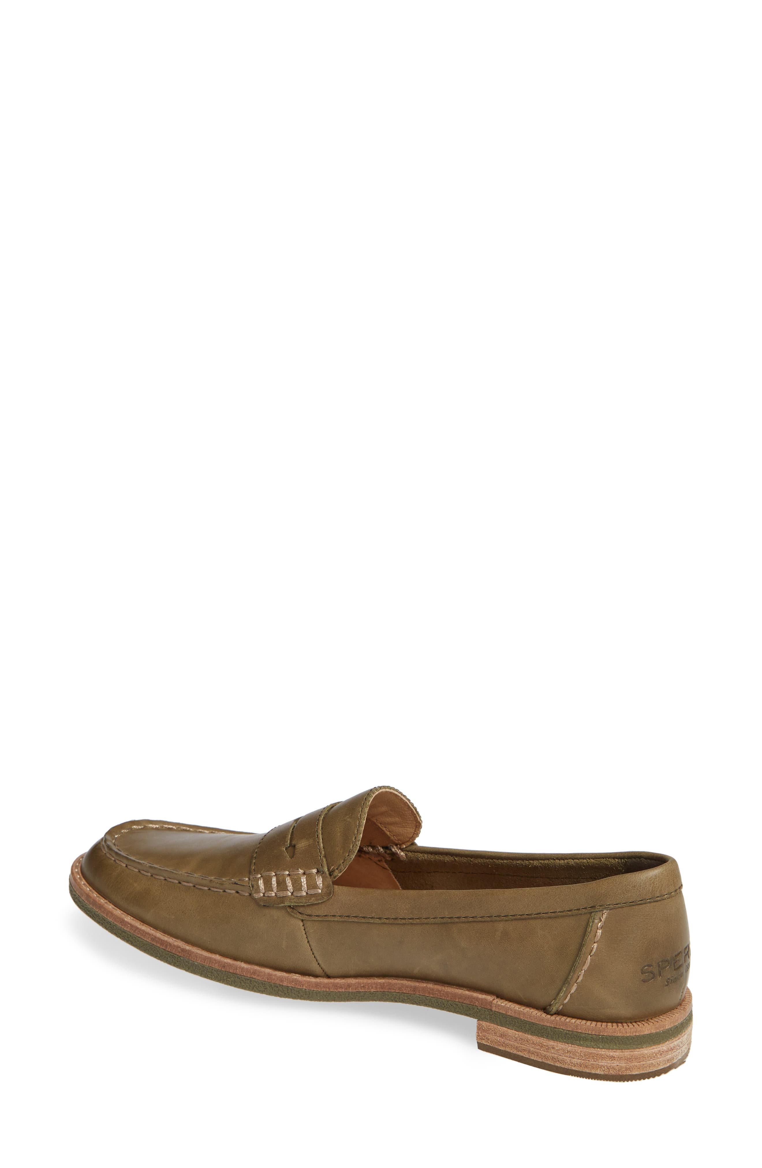 Seaport Penny Loafer,                             Alternate thumbnail 2, color,                             OLIVE LEATHER