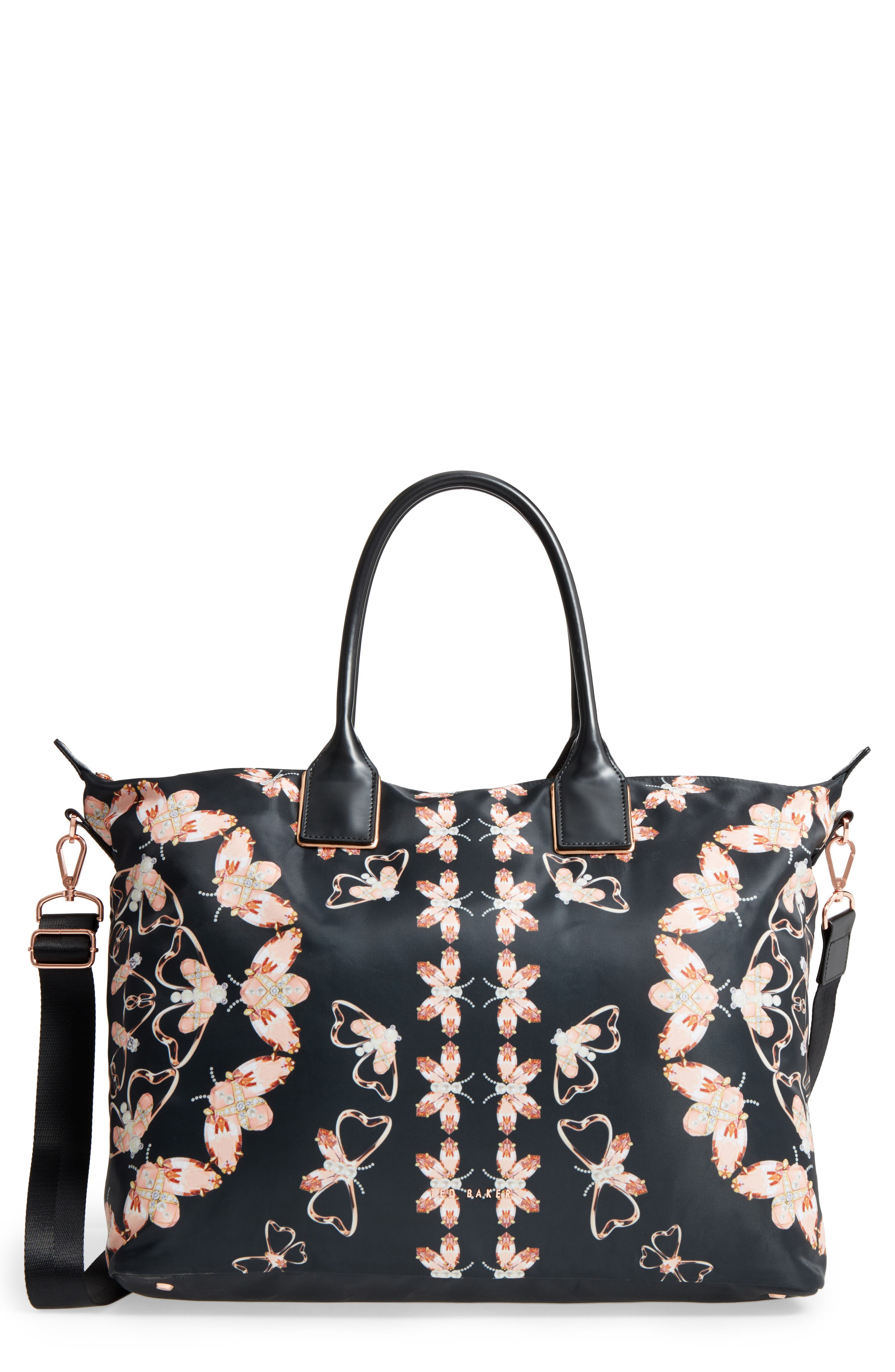 Large Ezora Queen Bee Tote,                             Main thumbnail 1, color,                             001