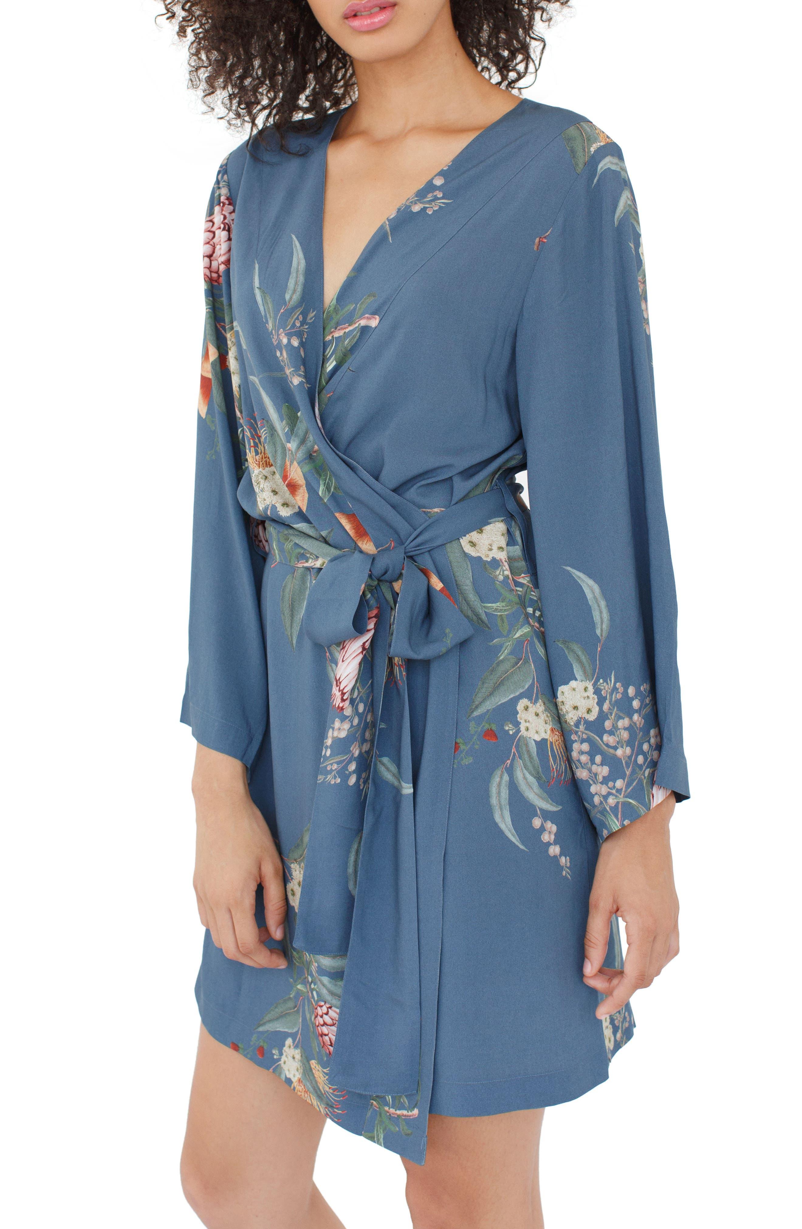 Floral Kimono Robe,                             Main thumbnail 1, color,                             440