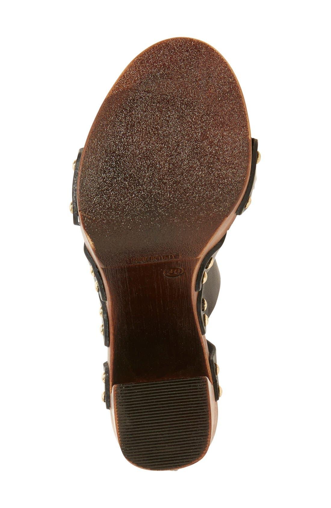 'Kenzie' Lace-Up Sandal,                             Alternate thumbnail 2, color,                             001