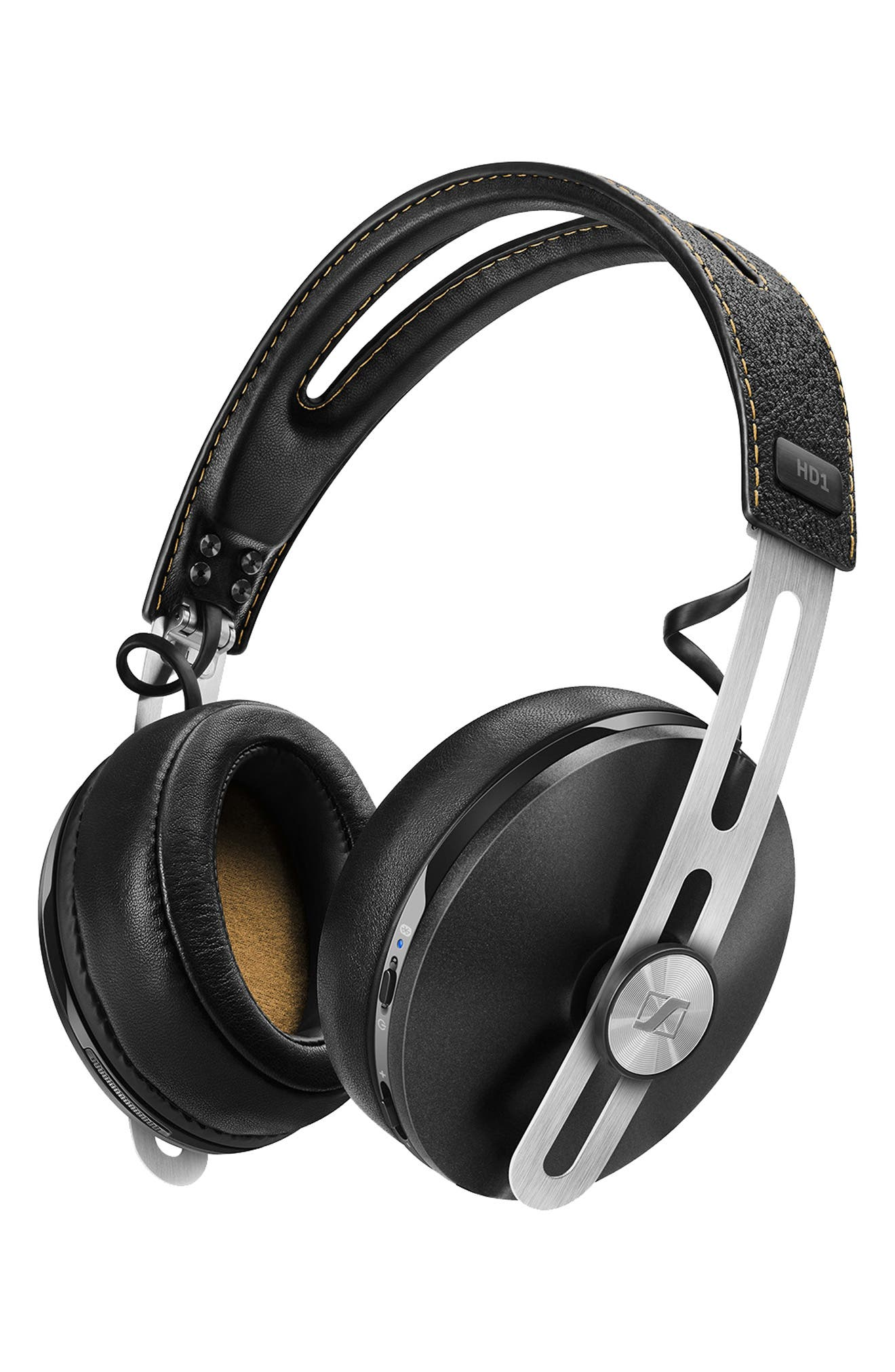 HD1 Wireless Bluetooth<sup>®</sup> Noise Cancelling Headphones,                             Alternate thumbnail 2, color,                             BLACK