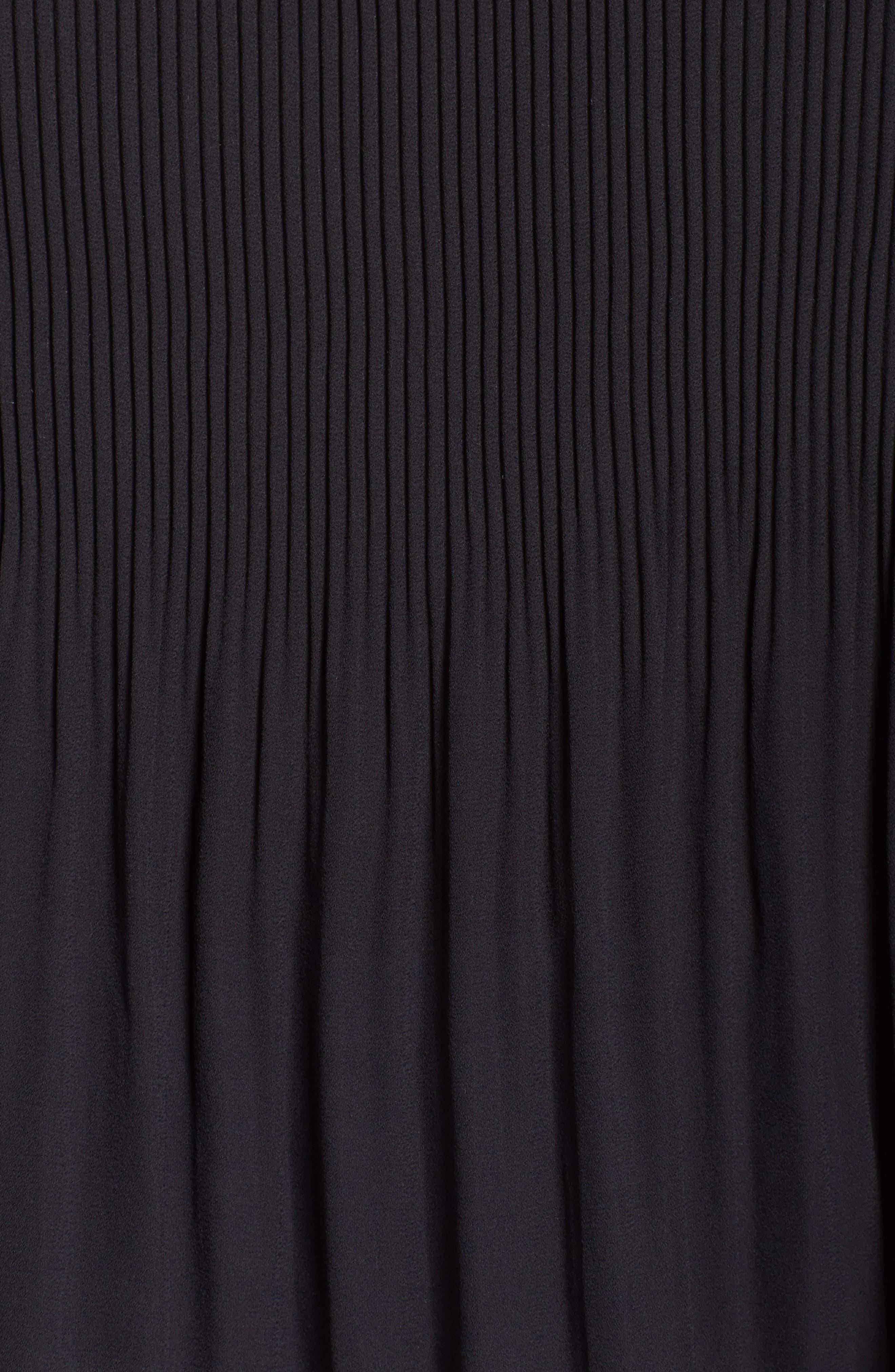 Pleat Off the Shoulder Blouse,                             Alternate thumbnail 5, color,                             001