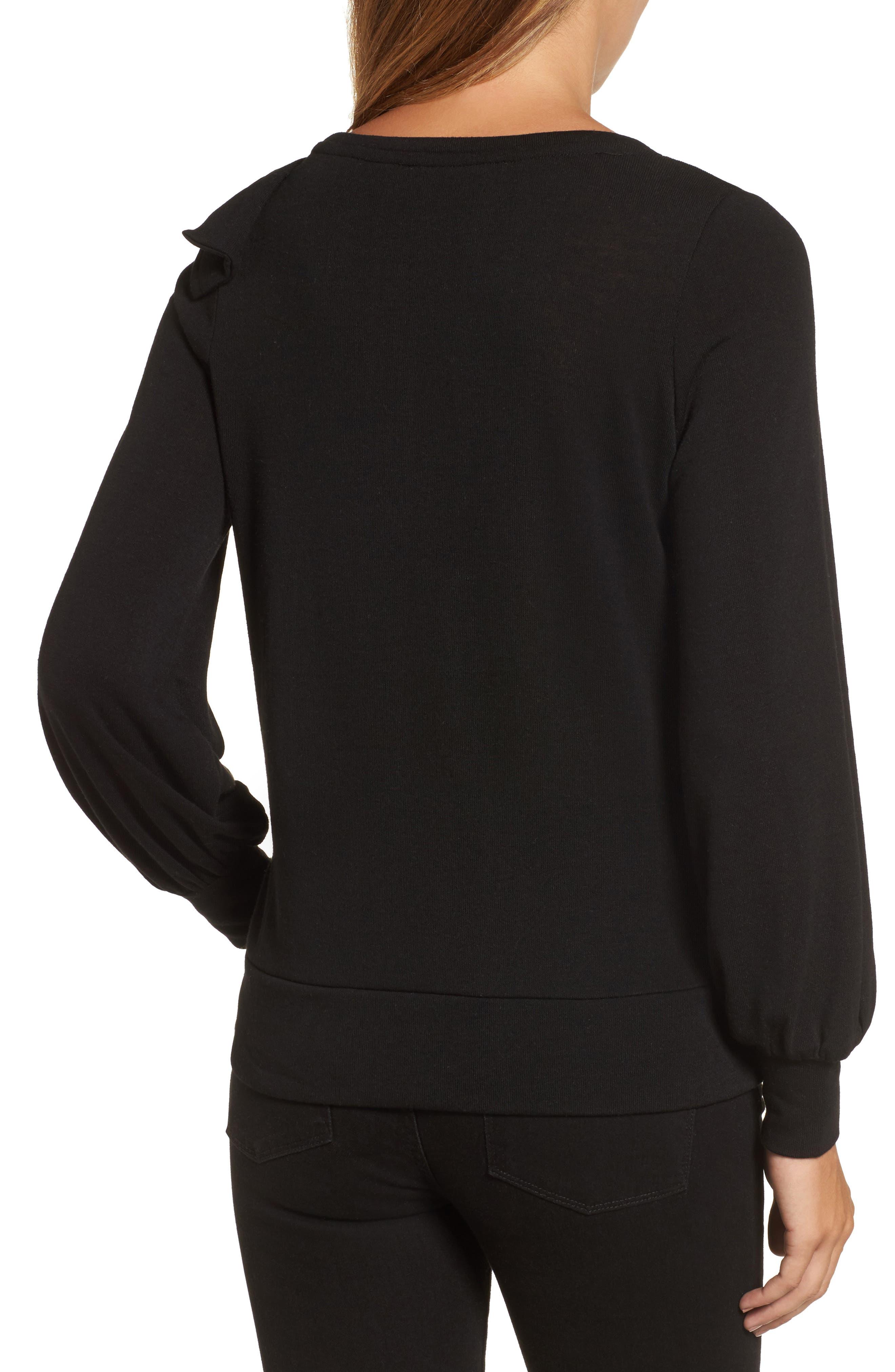 Bow Knit Sweatshirt,                             Alternate thumbnail 2, color,                             001