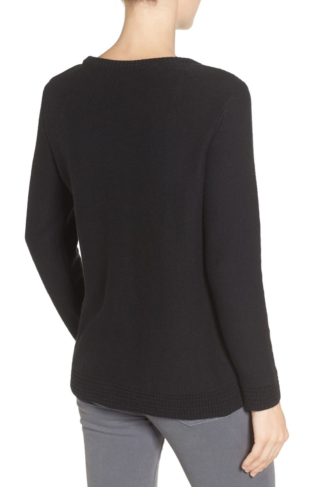 Wiley Maternity/Nursing Sweatshirt,                             Alternate thumbnail 7, color,                             BLACK