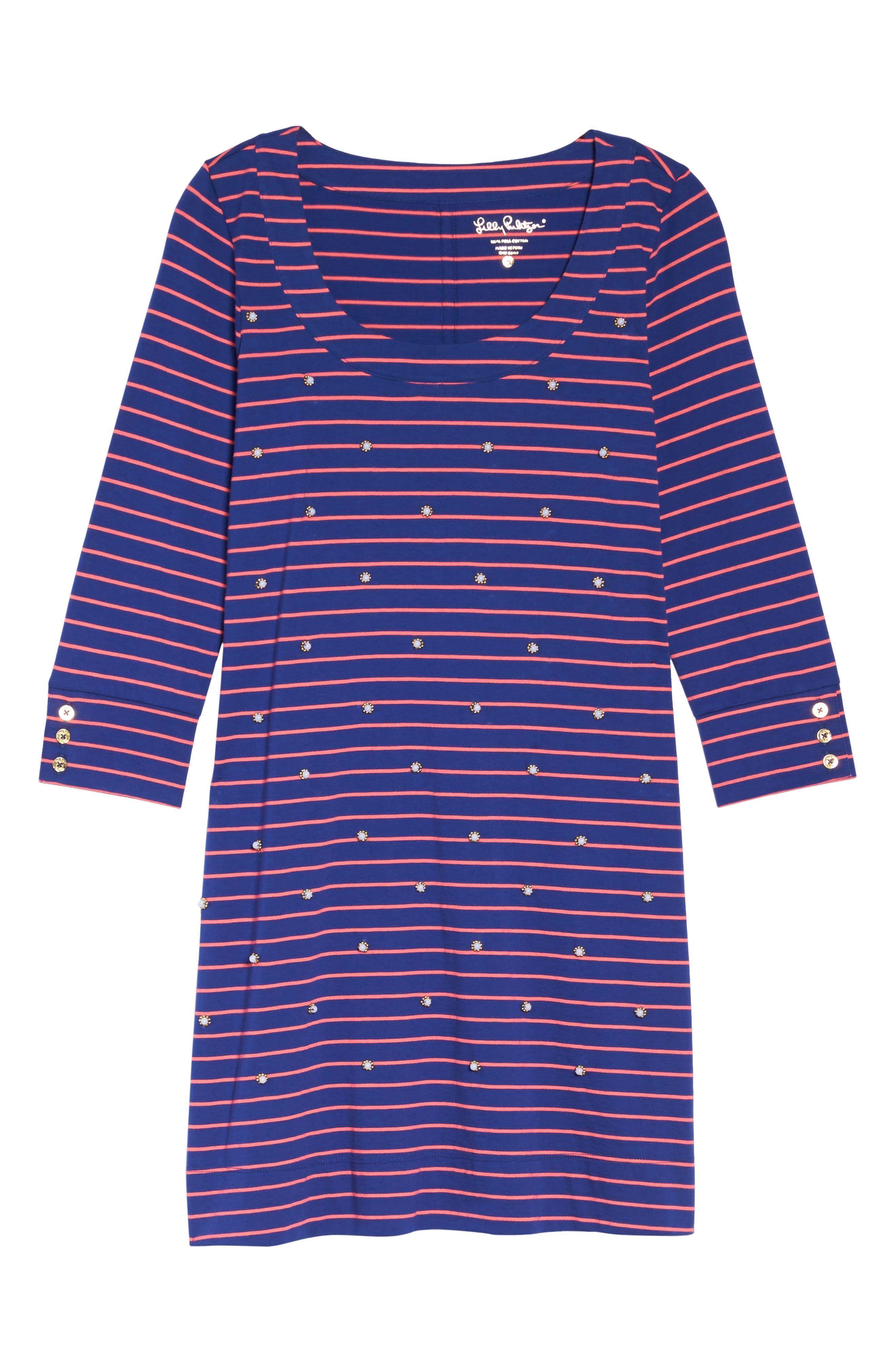 Merrit Beaded T-Shirt Dress,                             Alternate thumbnail 6, color,