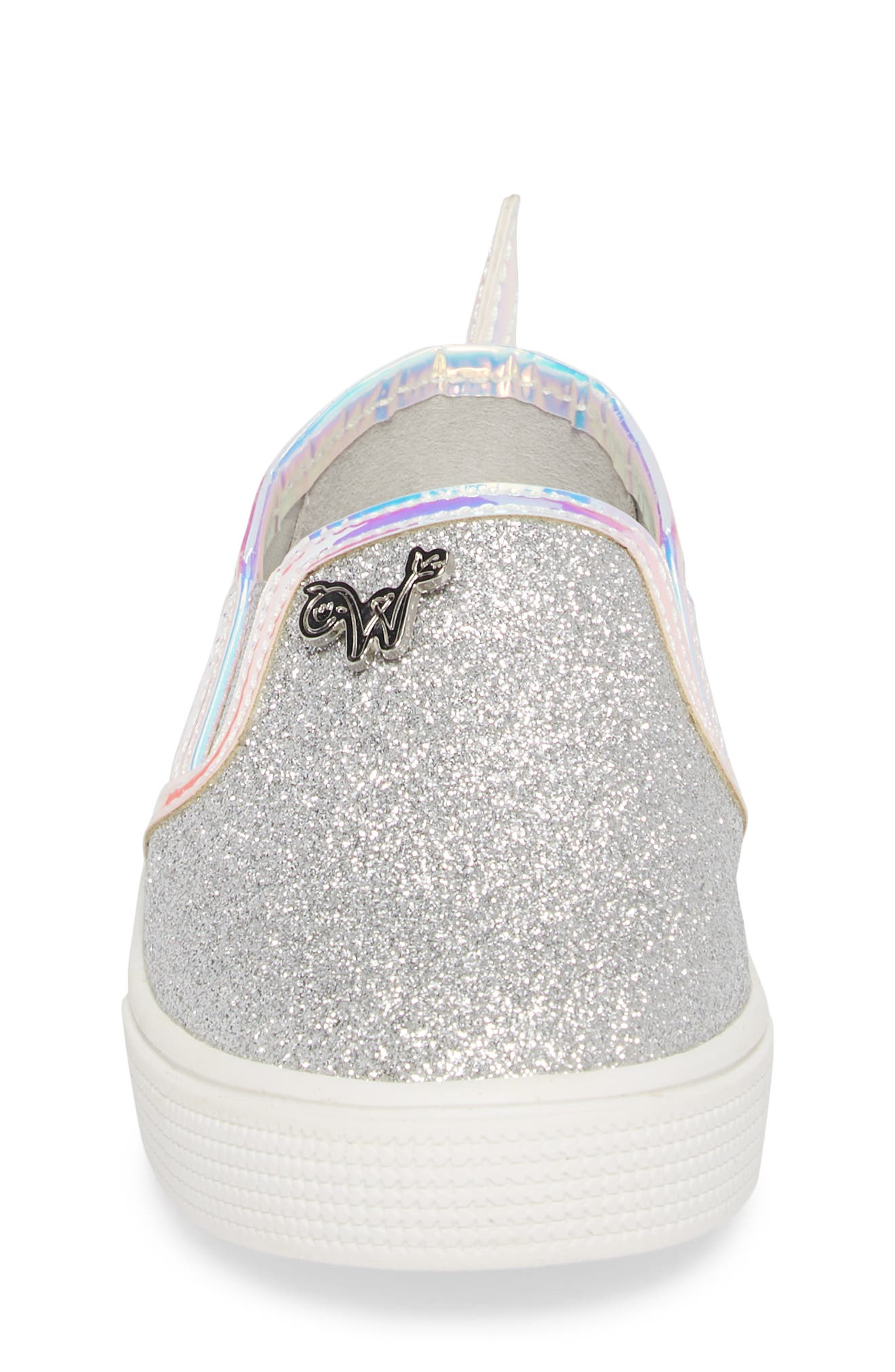Camille Mermaid Glitter Sneaker,                             Alternate thumbnail 4, color,                             040
