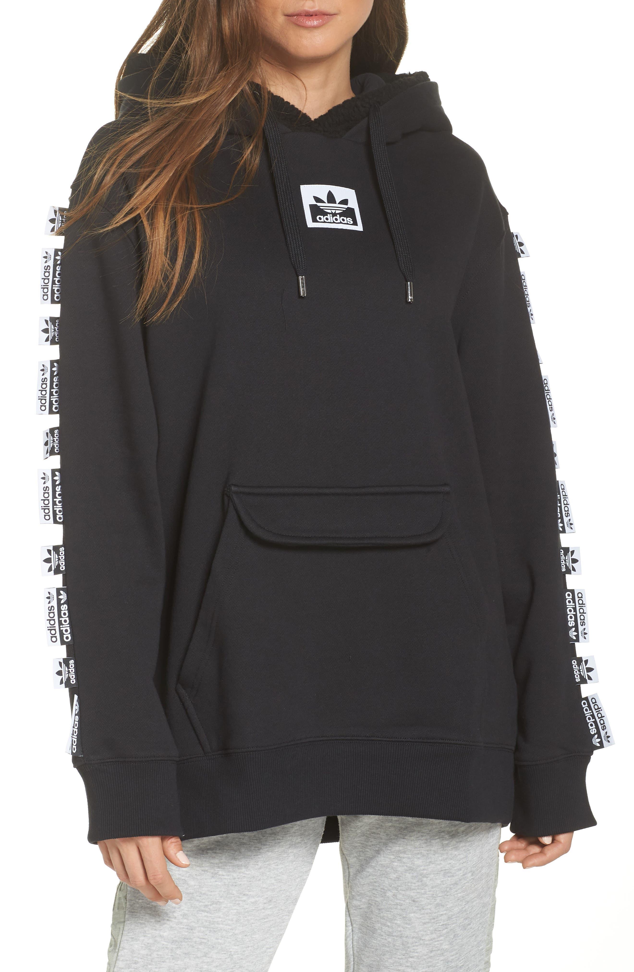 Adidas Originals X Olivia Oblanc Double Hoodie, Black