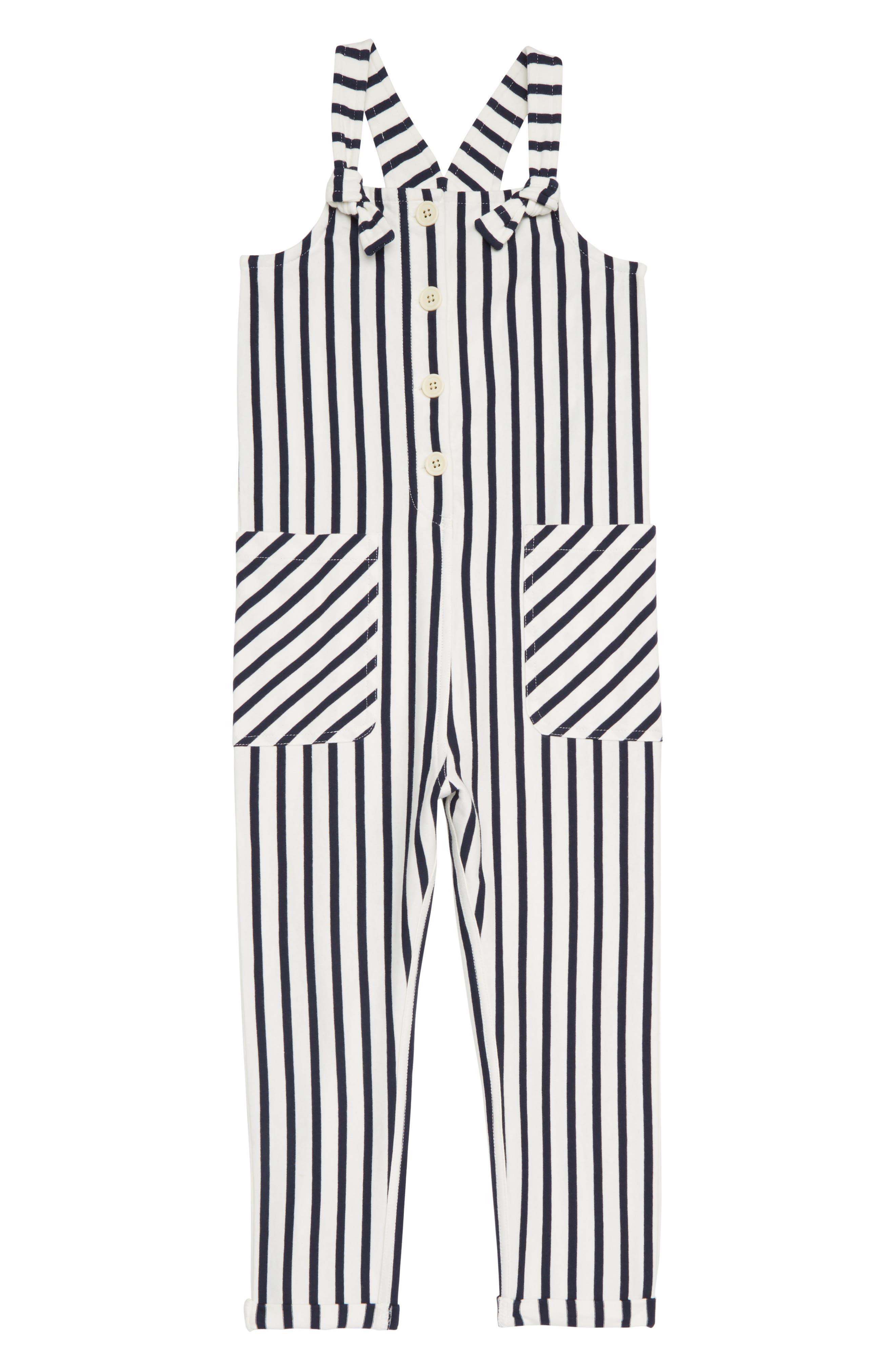 Girls Crewcuts By Jcrew Stripe Jumpsuit Size 14  Blue