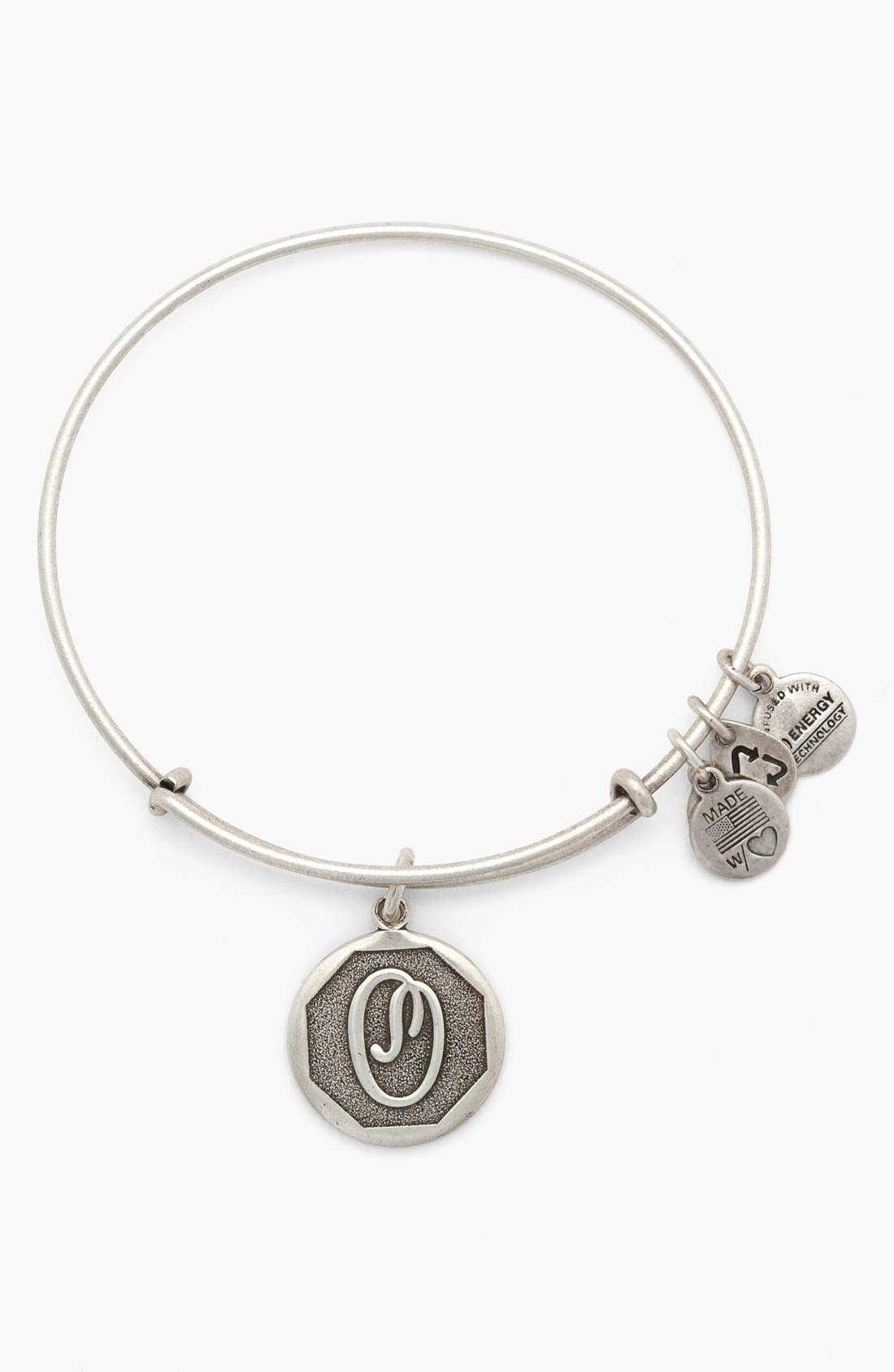 'Initial' Adjustable Wire Bangle,                             Main thumbnail 15, color,