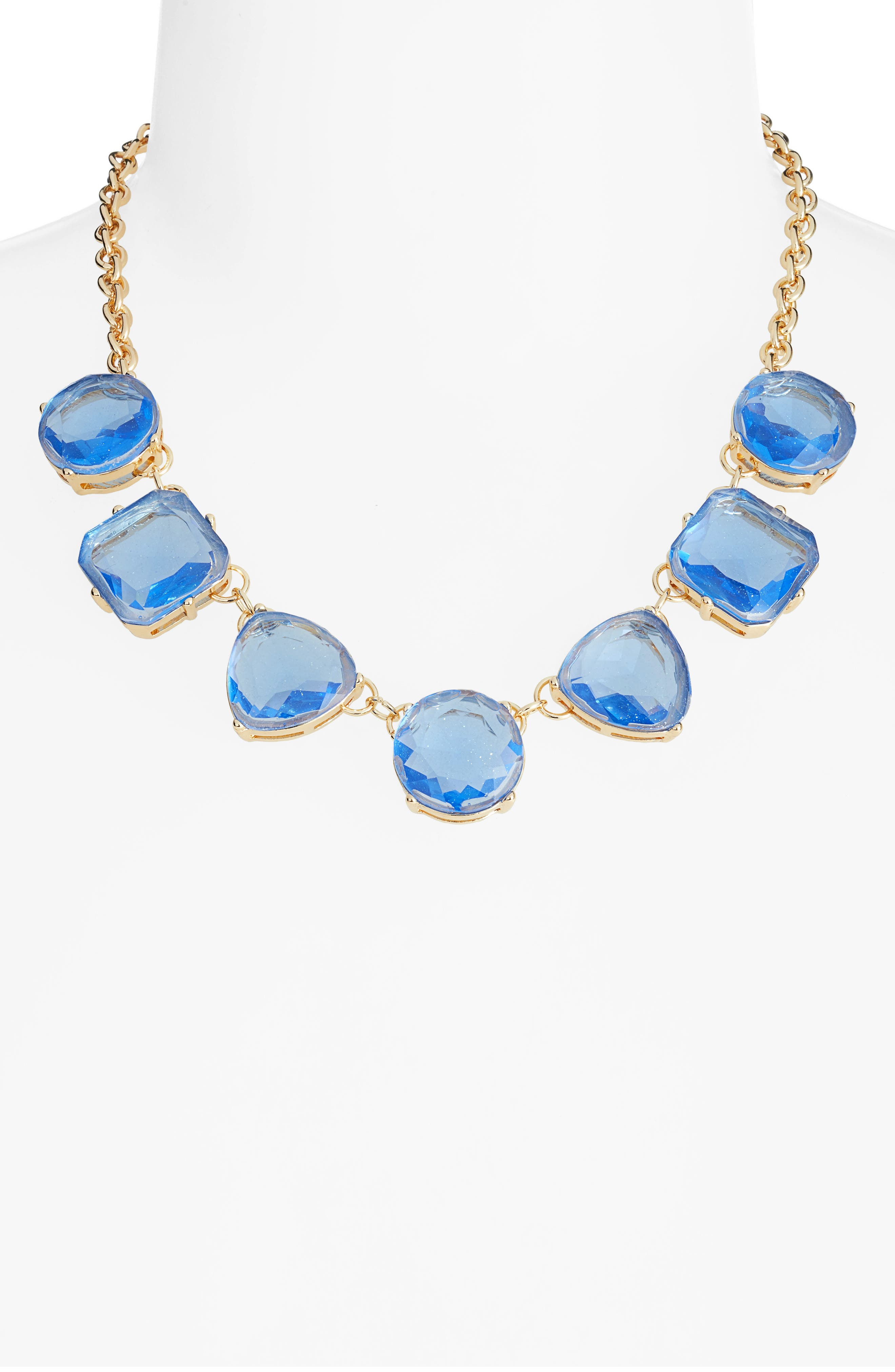 STELLA + RUBY,                             Tilly Collar Necklace,                             Alternate thumbnail 2, color,                             GOLD/ BLUE