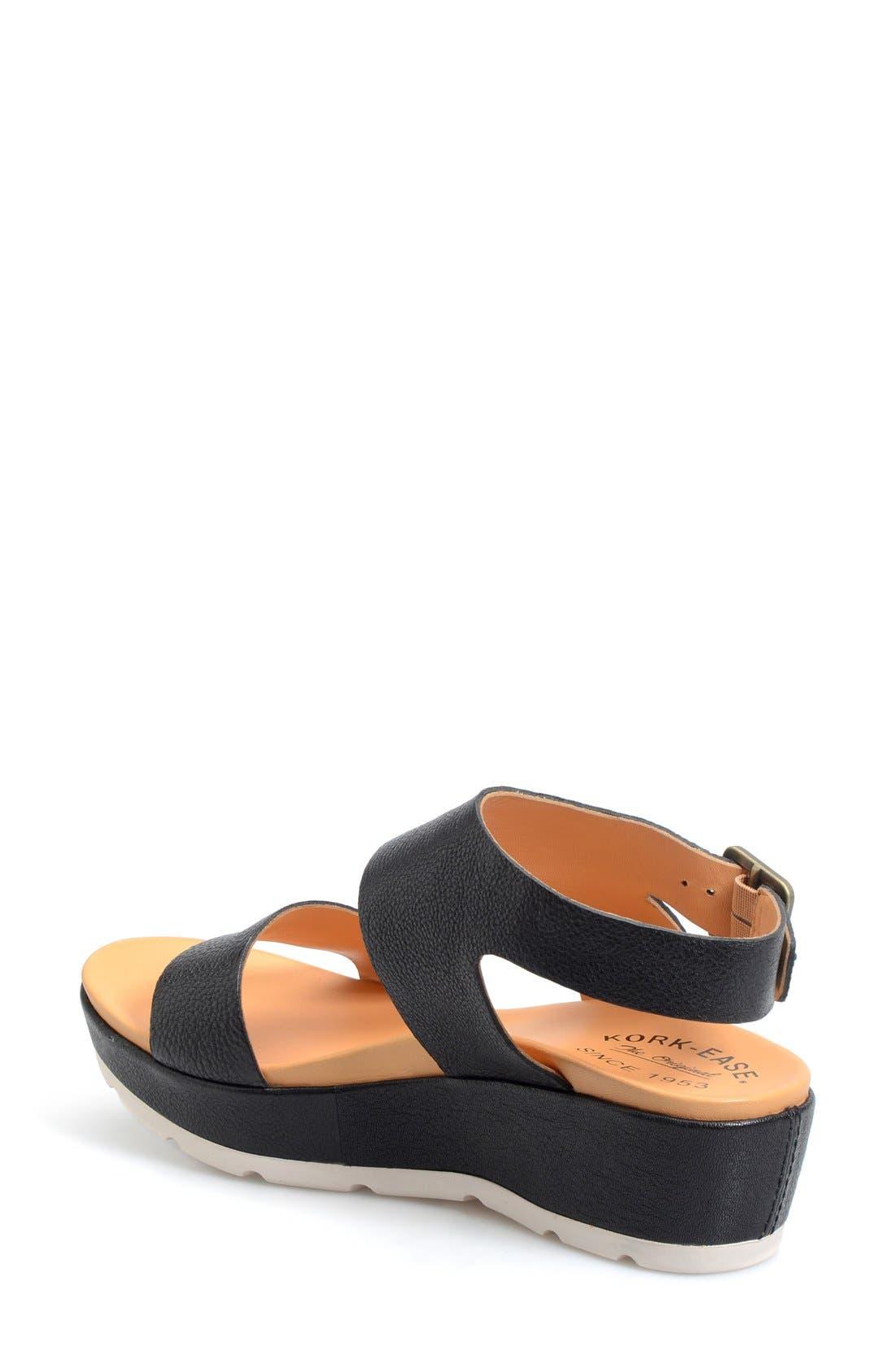 'Khloe' Platform Wedge Sandal,                             Alternate thumbnail 6, color,